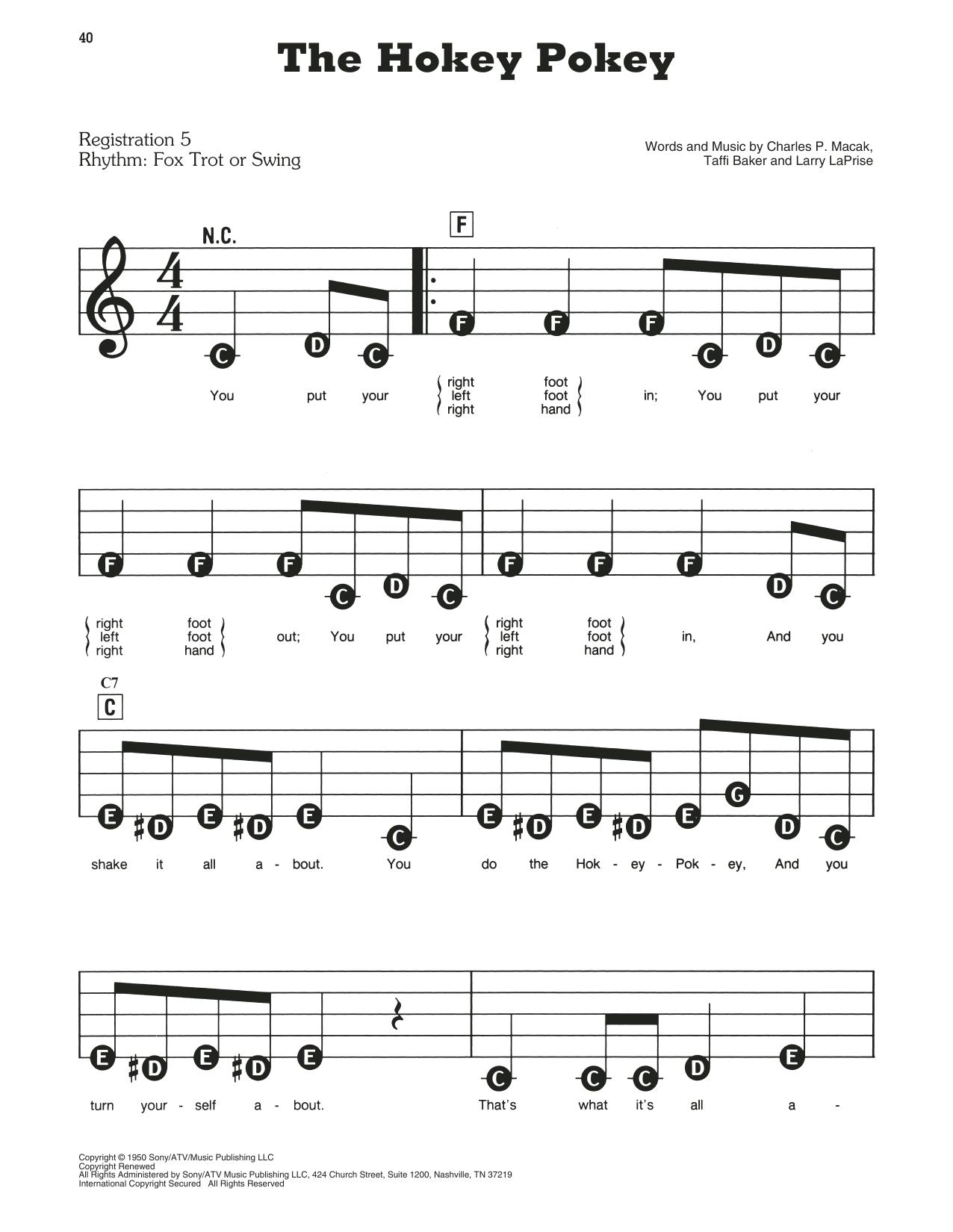 The Hokey Pokey Sheet Music