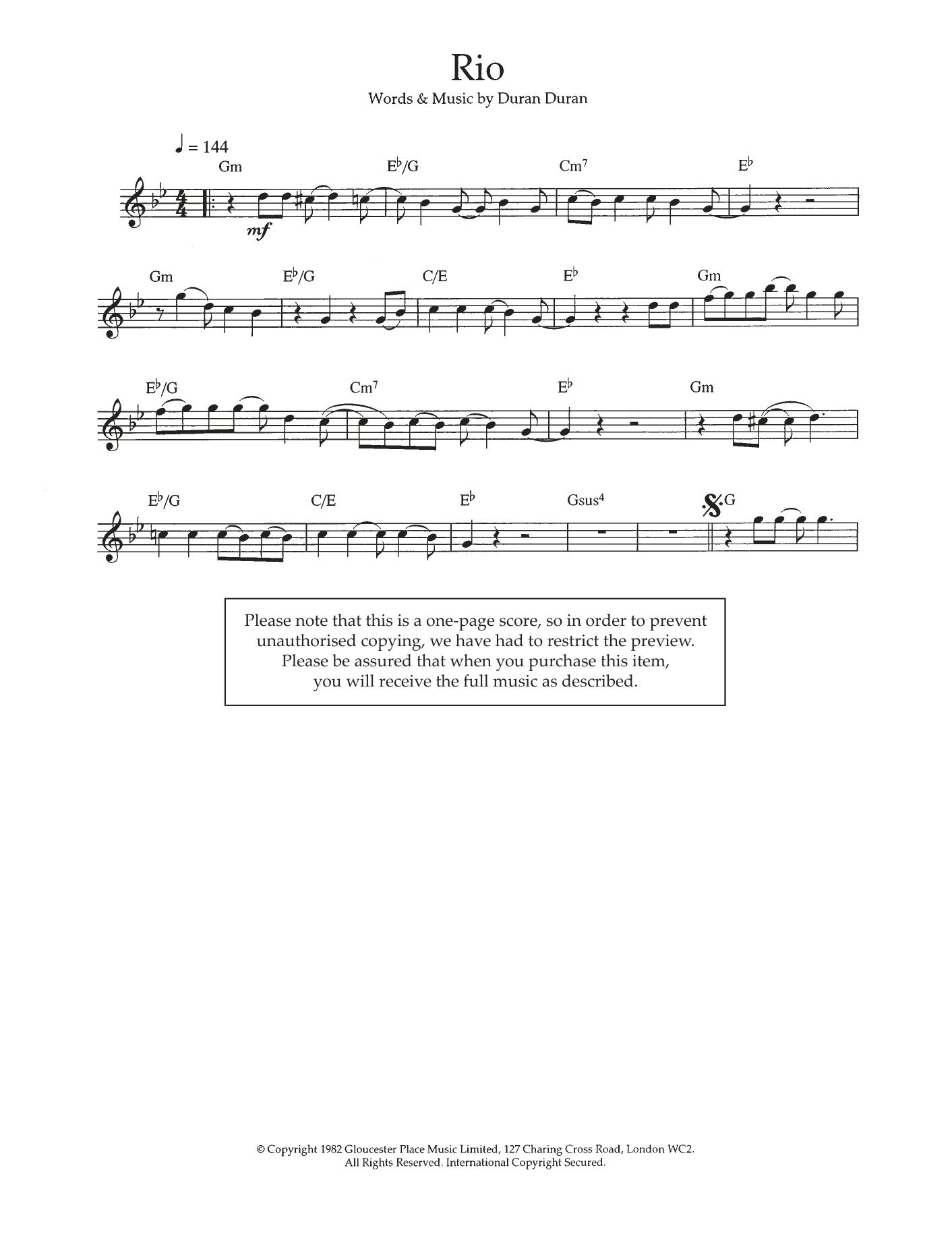 Rio Sheet Music