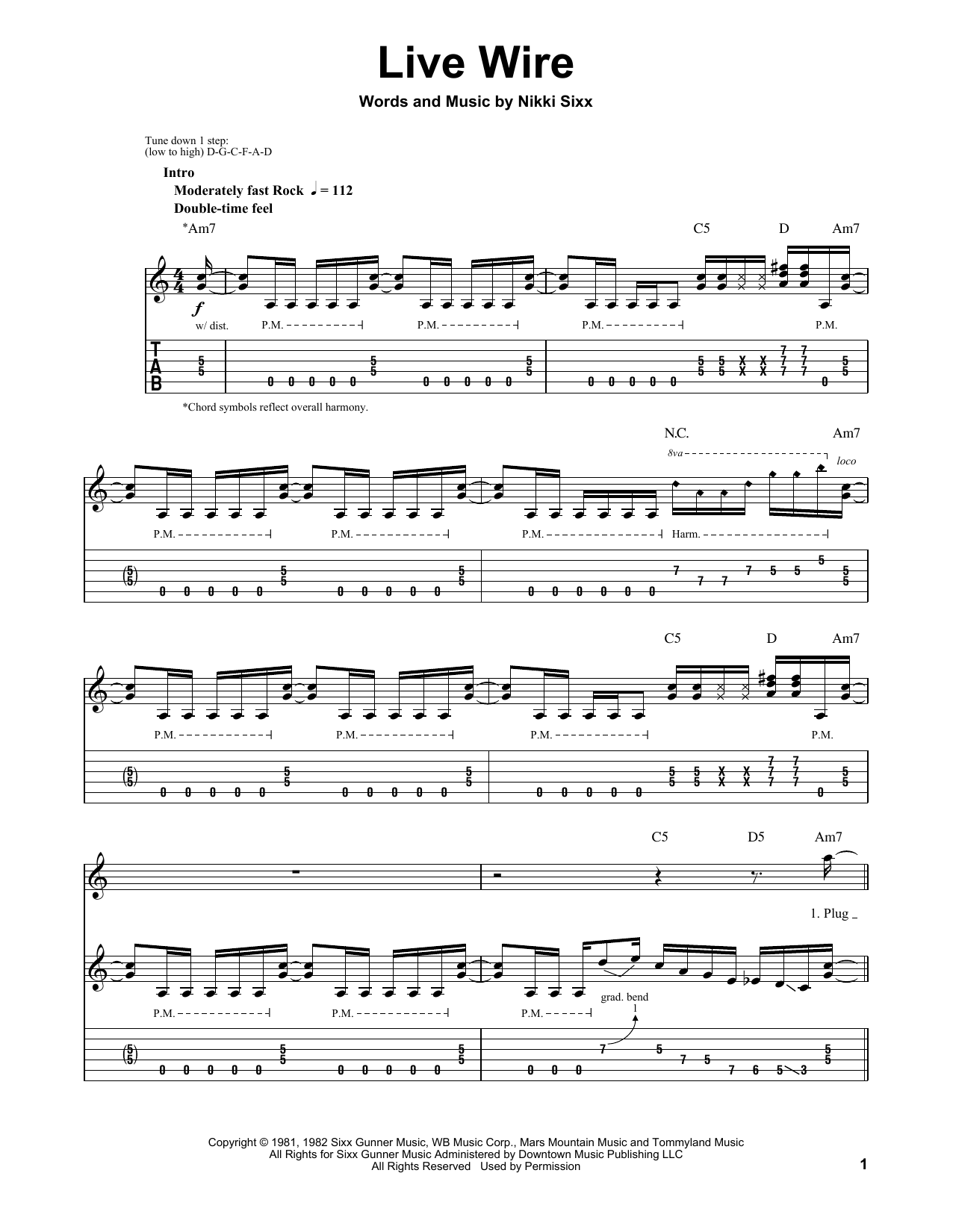 Live Wire (Guitar Tab (Single Guitar))