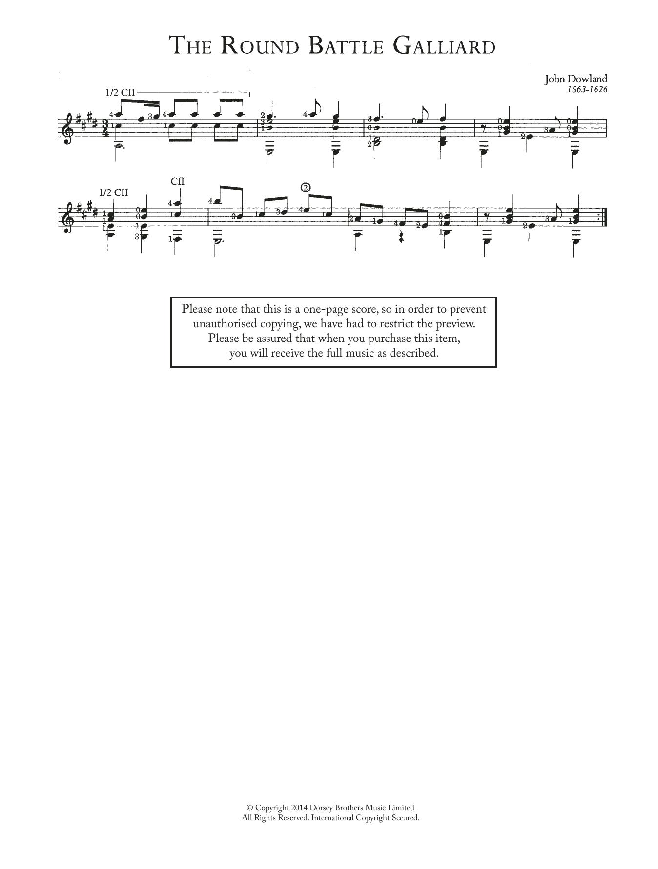 The Round Battle Galliard Sheet Music
