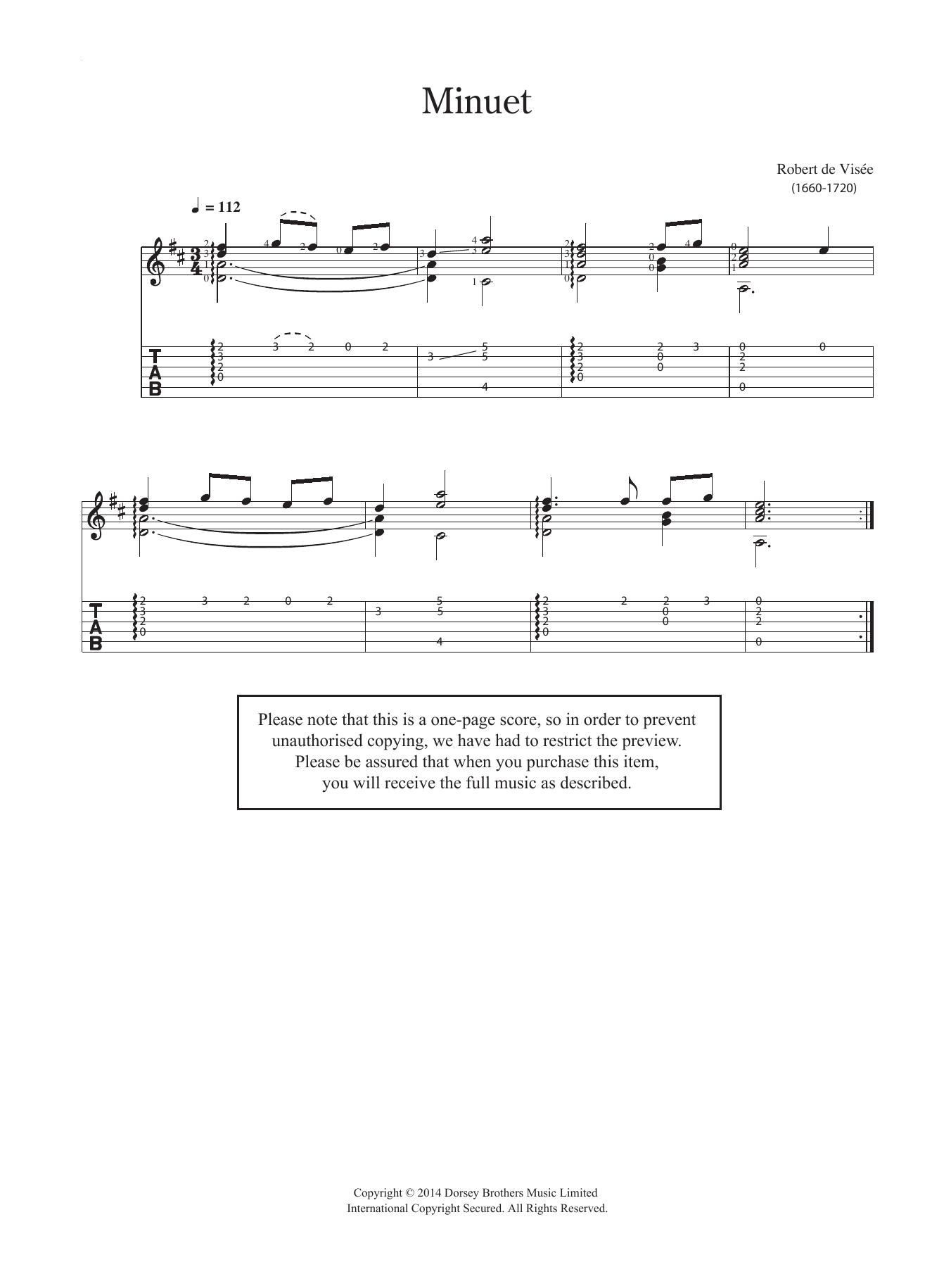 Minuet Sheet Music