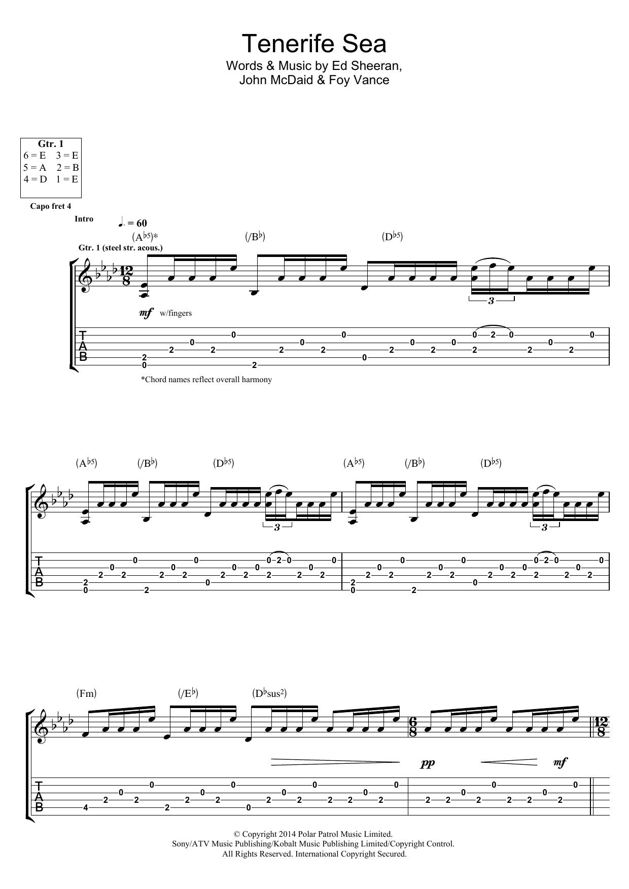 Tenerife Sea (Guitar Tab)