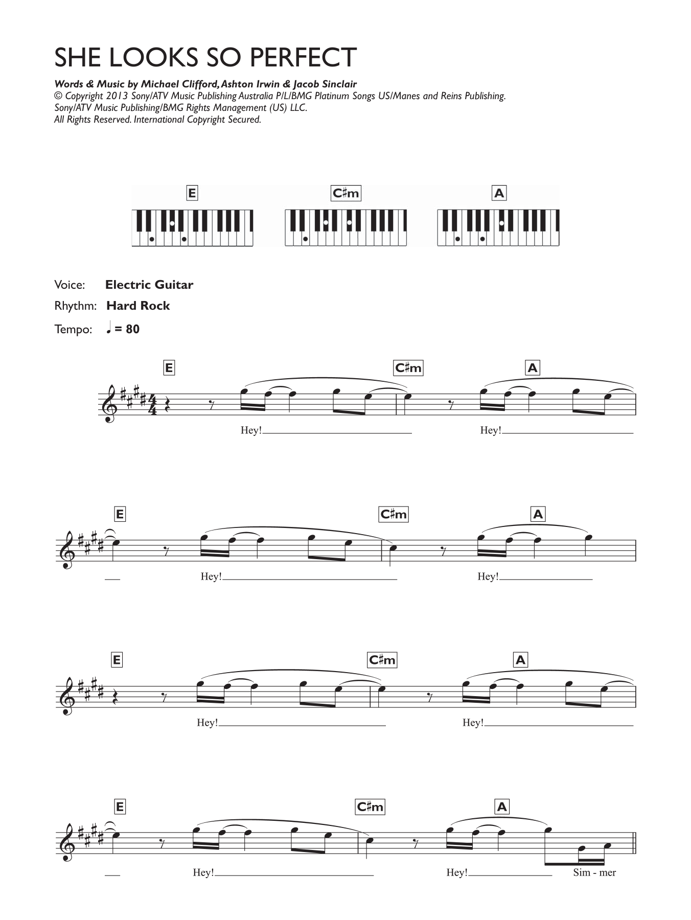 Sheet Music Digital Files To Print - Licensed Ashton Irwin Digital