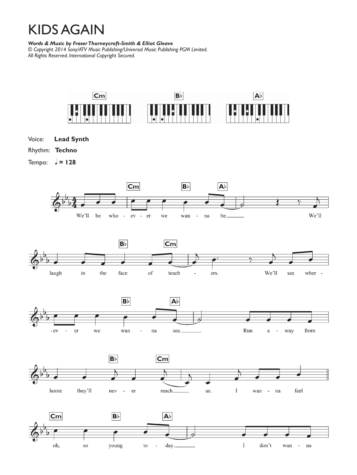 Kids Again Sheet Music