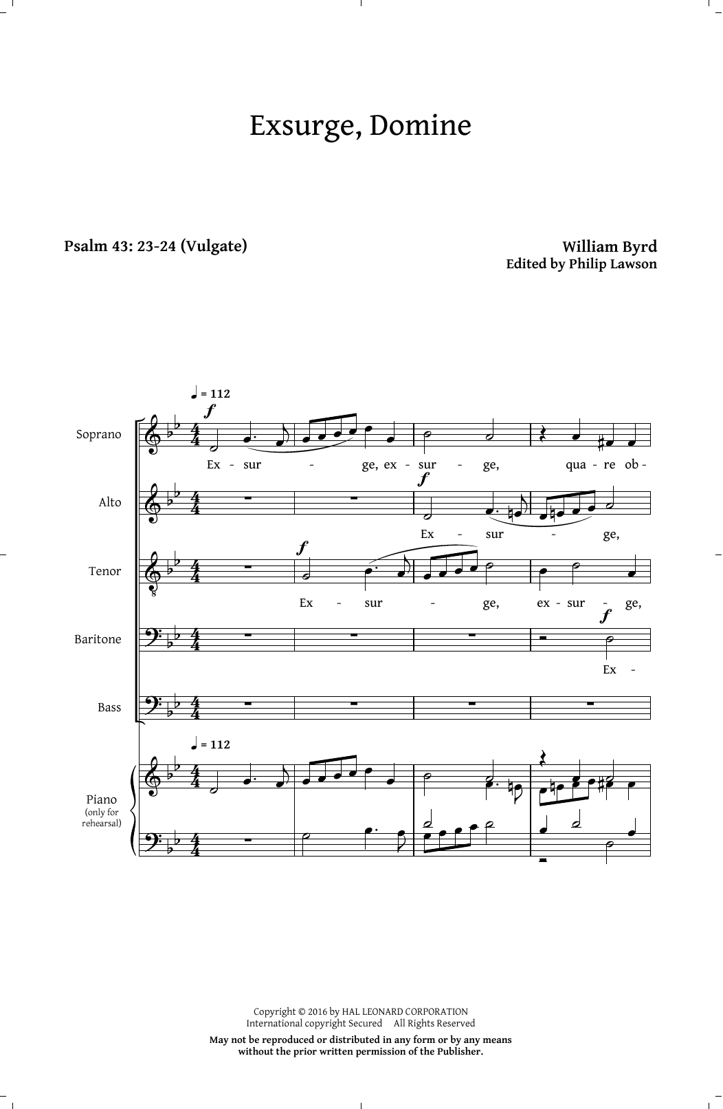 Exsurge, Domine (SATB Choir)