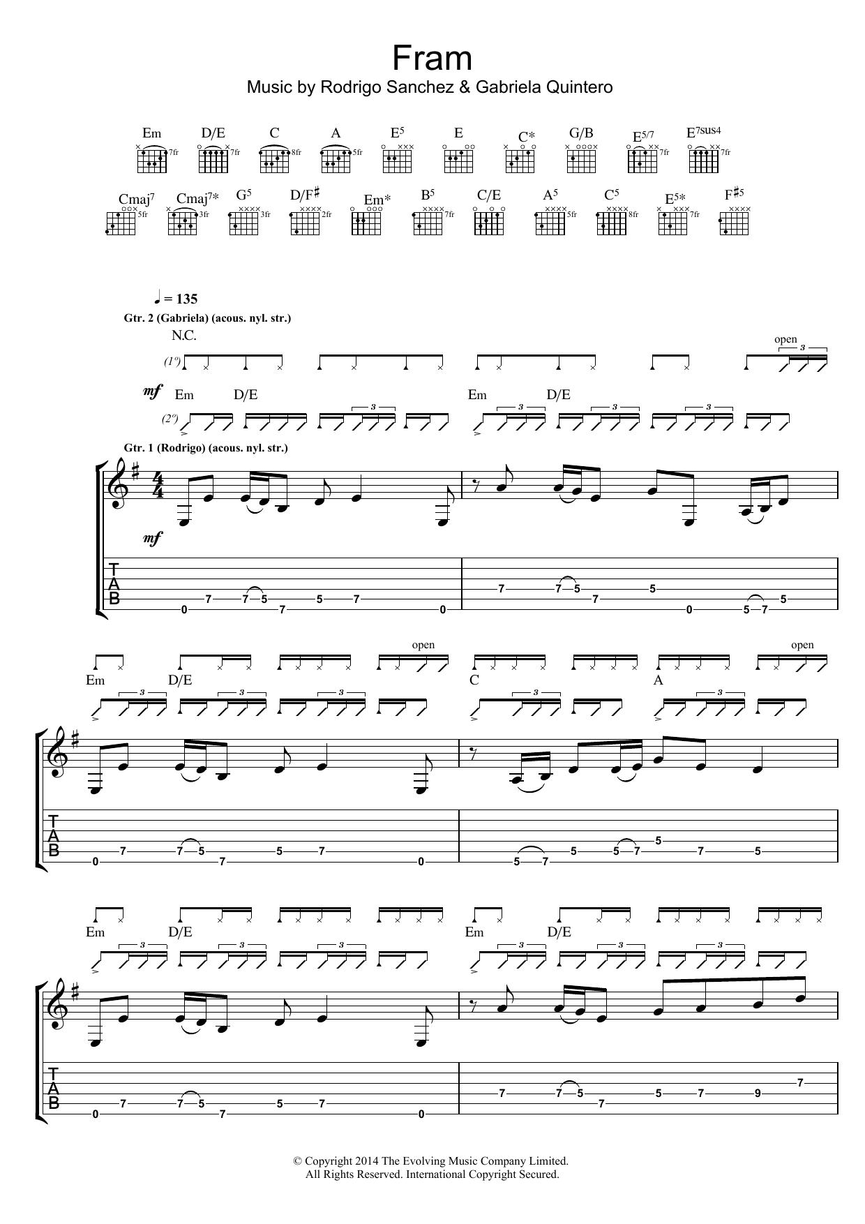 FRAM Sheet Music