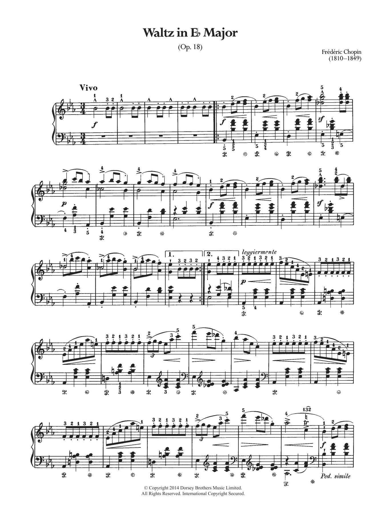 Waltz Op.18 (from 'Les Sylphides') Sheet Music