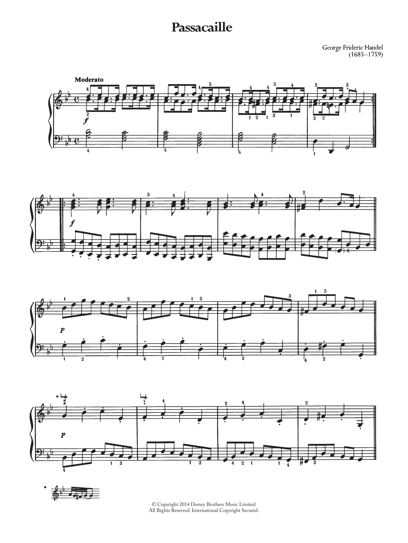 Passacaille Sheet Music