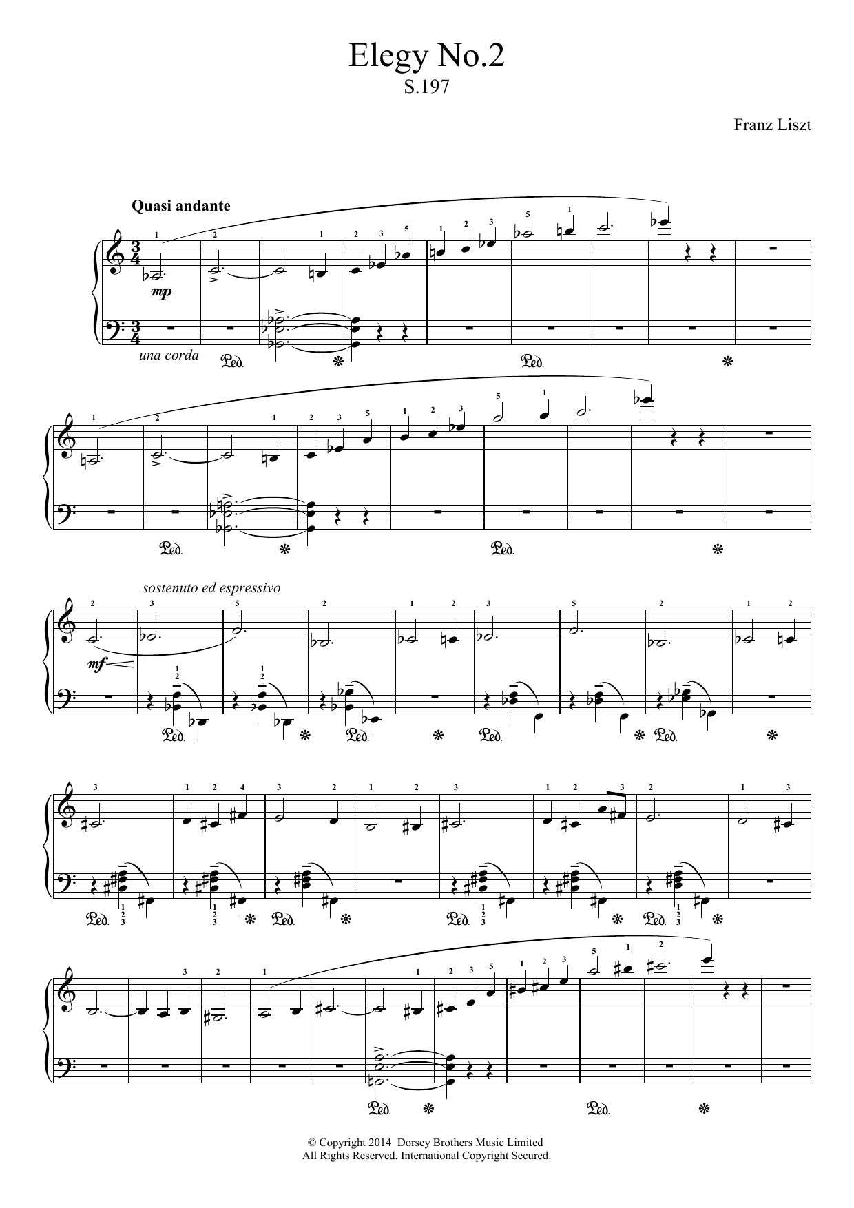Elegy No.2 Sheet Music