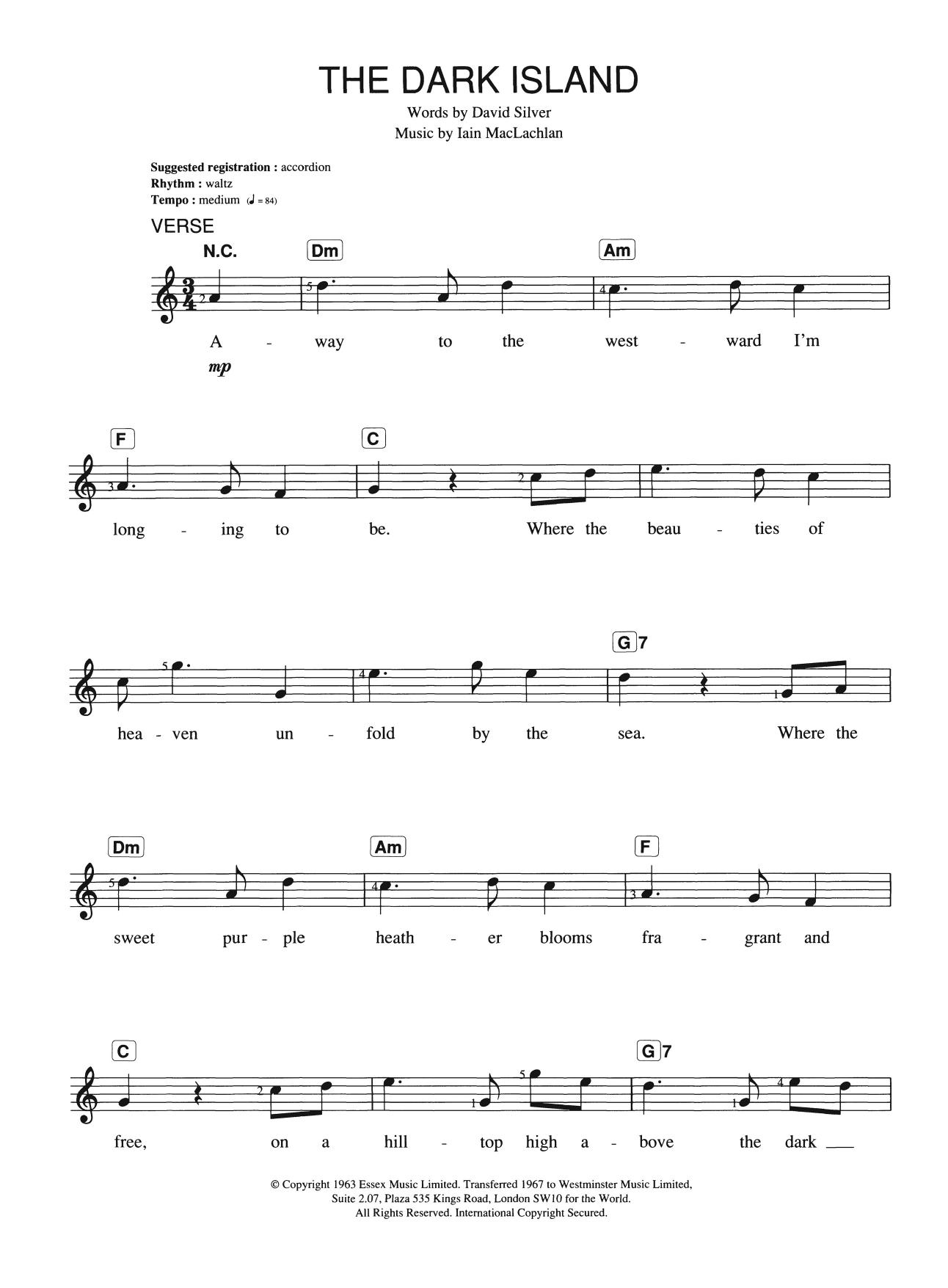 The Dark Island Sheet Music