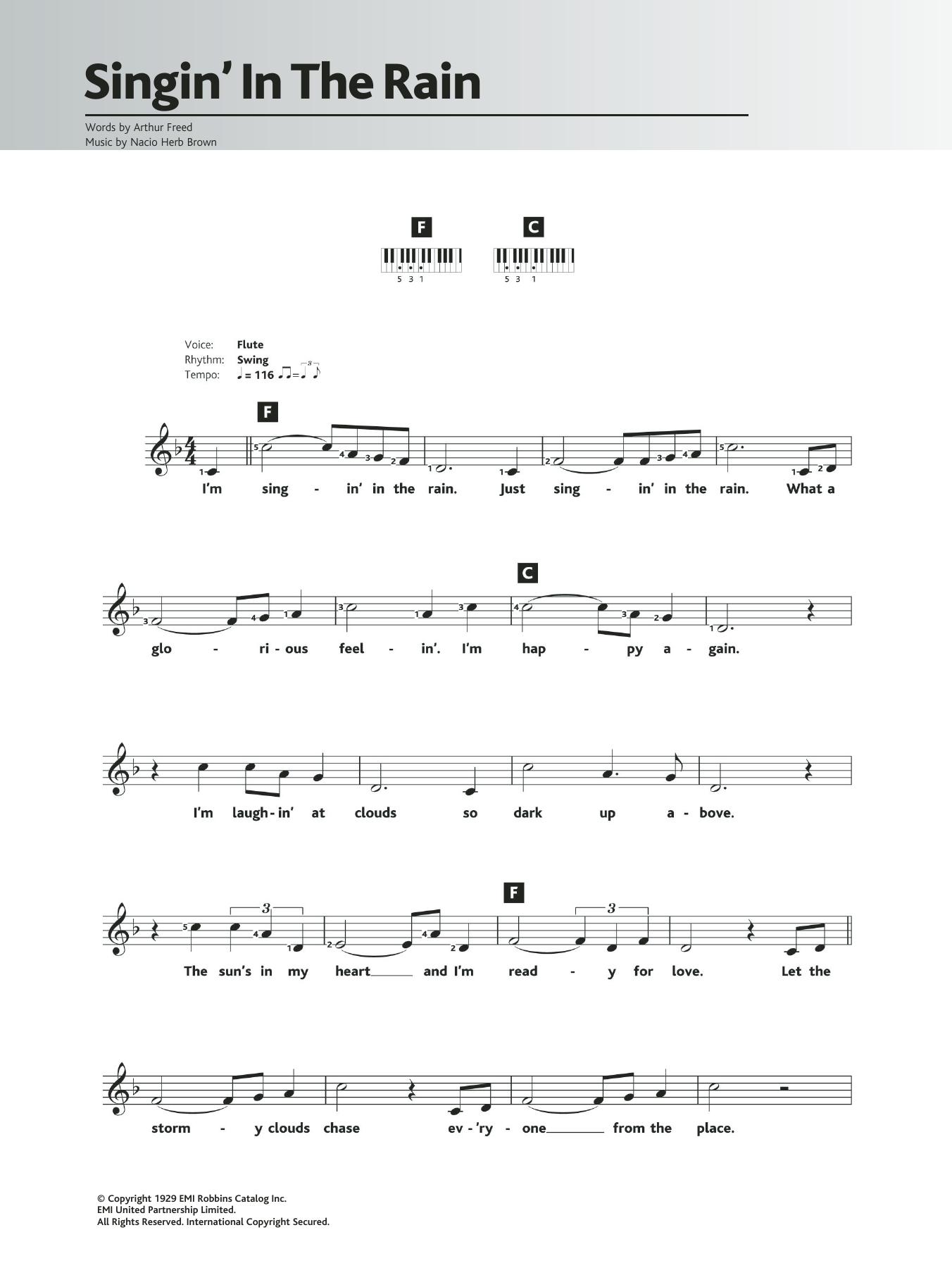 Singin' In The Rain Sheet Music