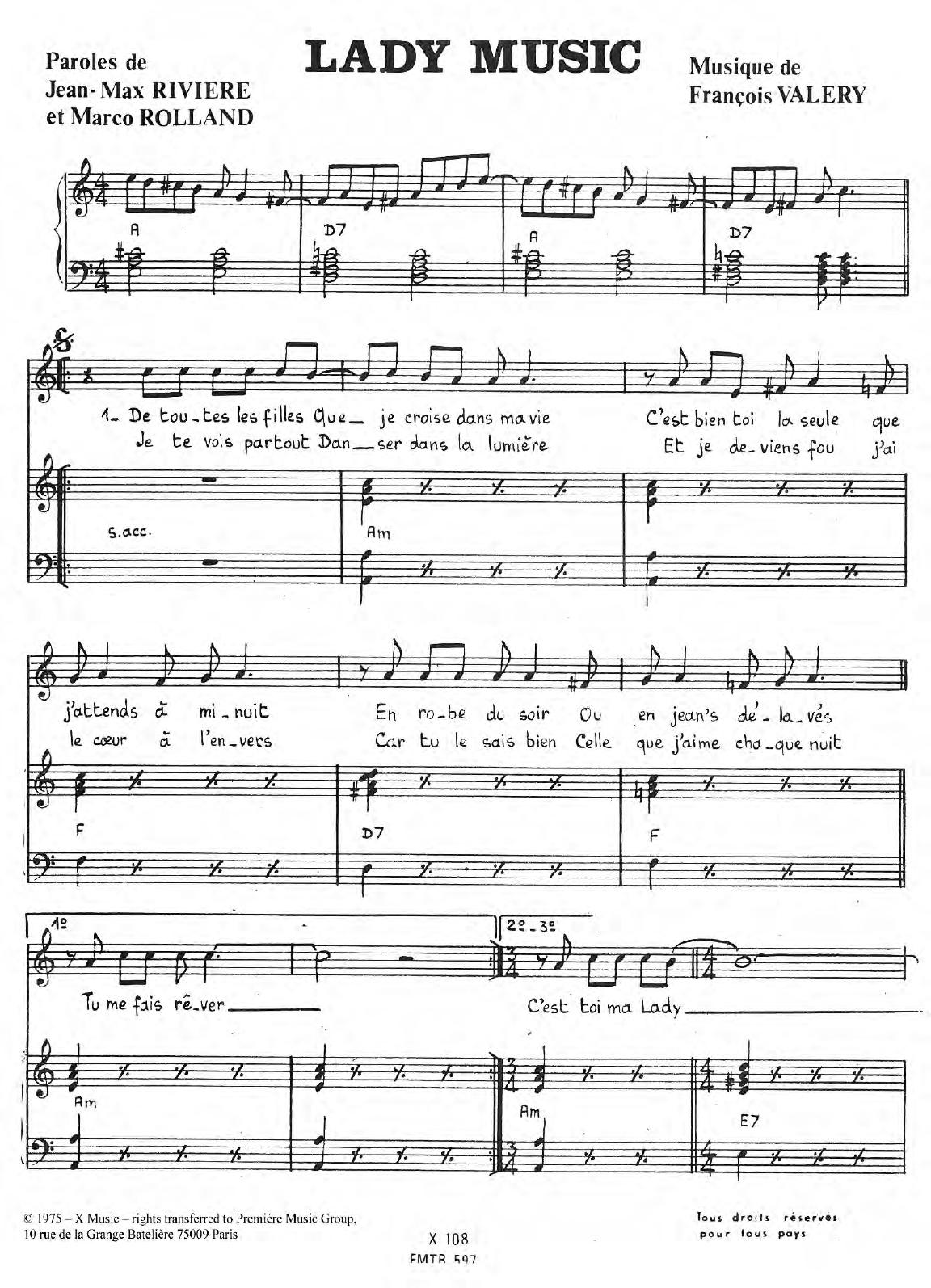 Lady Music Sheet Music