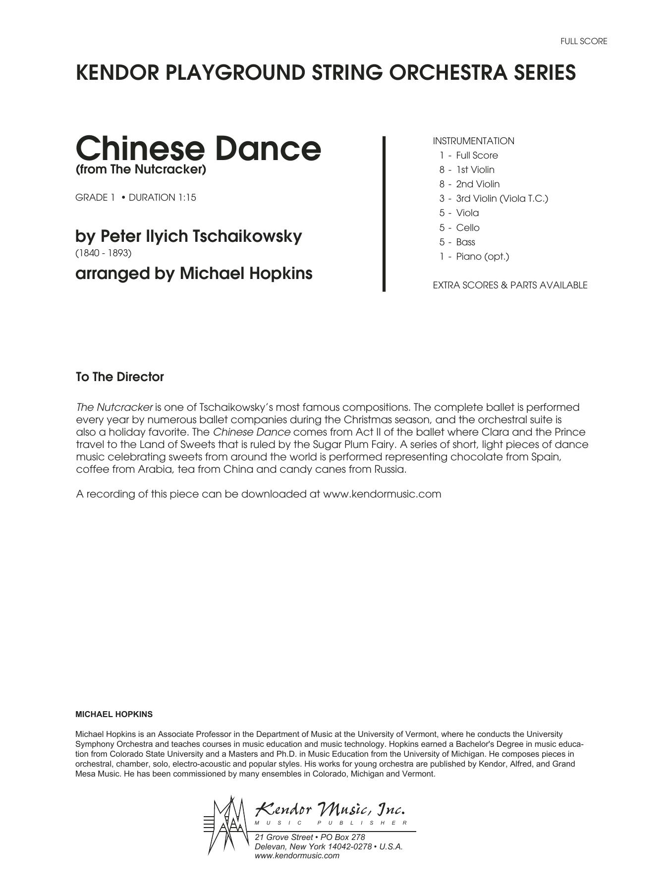 Chinese Dance (from The Nutcracker) - Full Score Sheet Music