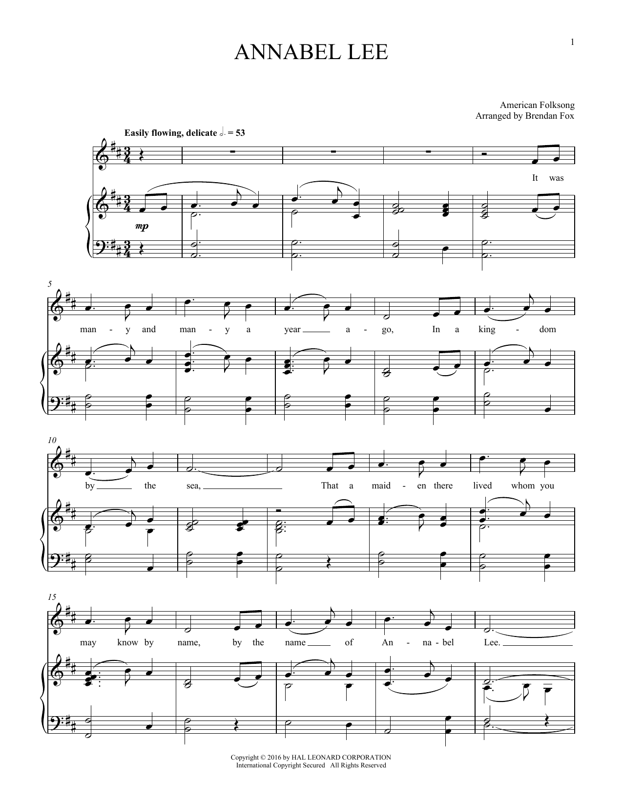 Annabel Lee (Piano & Vocal)
