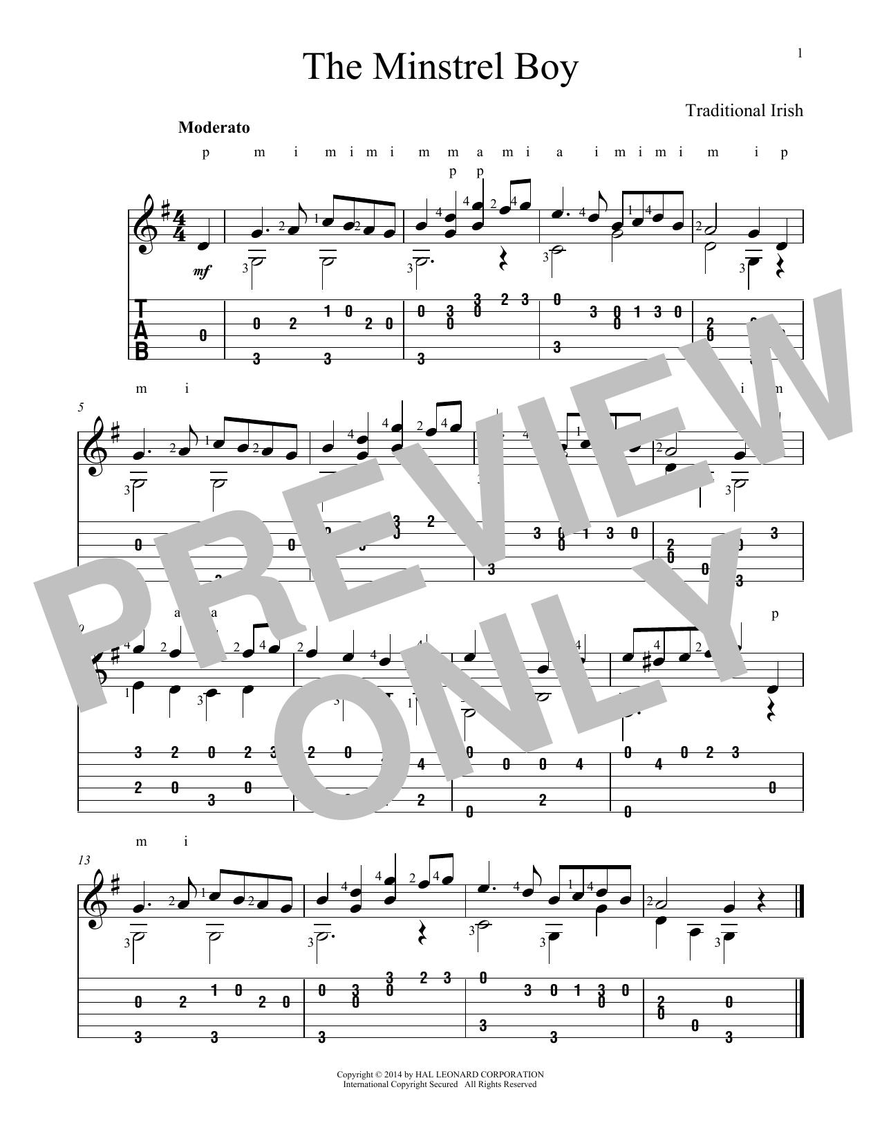 Minstrel Boy (Guitar Tab)