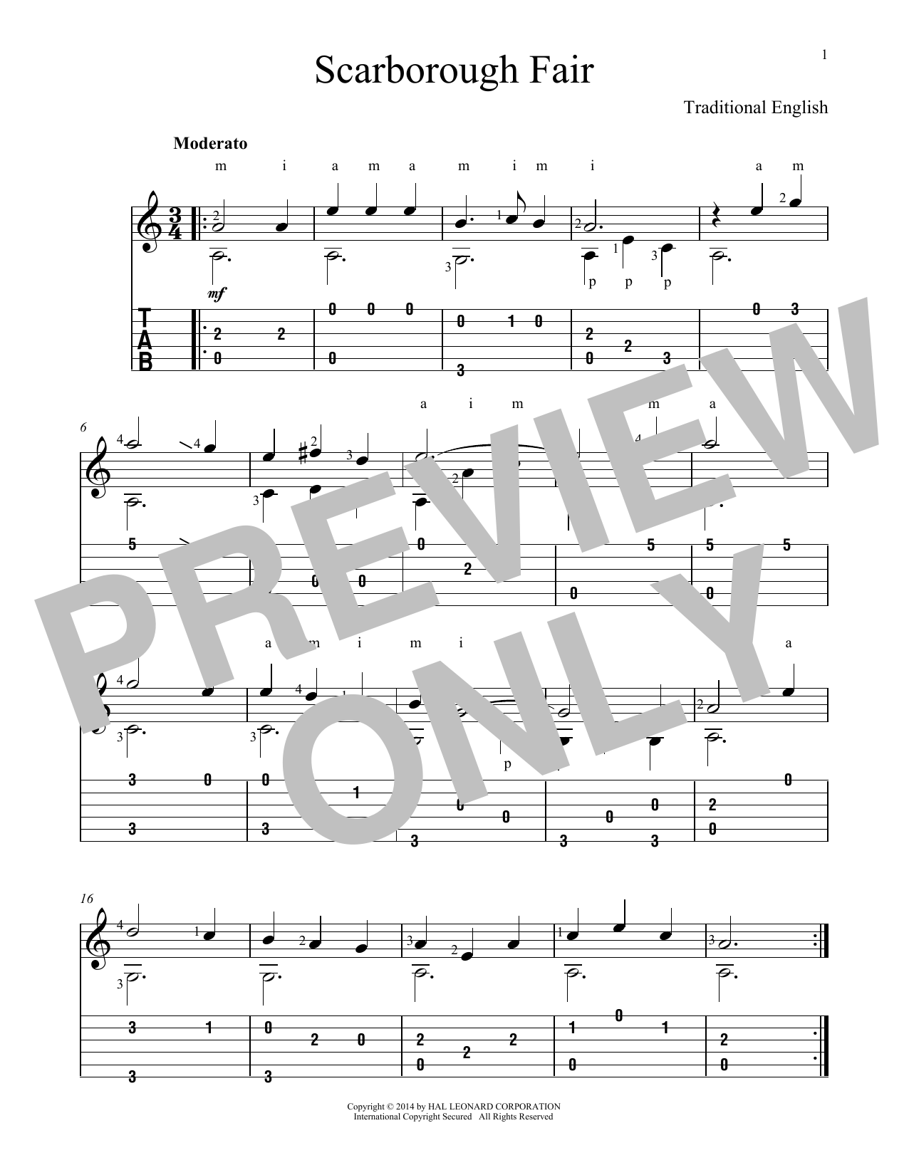 Scarborough Fair Sheet Music