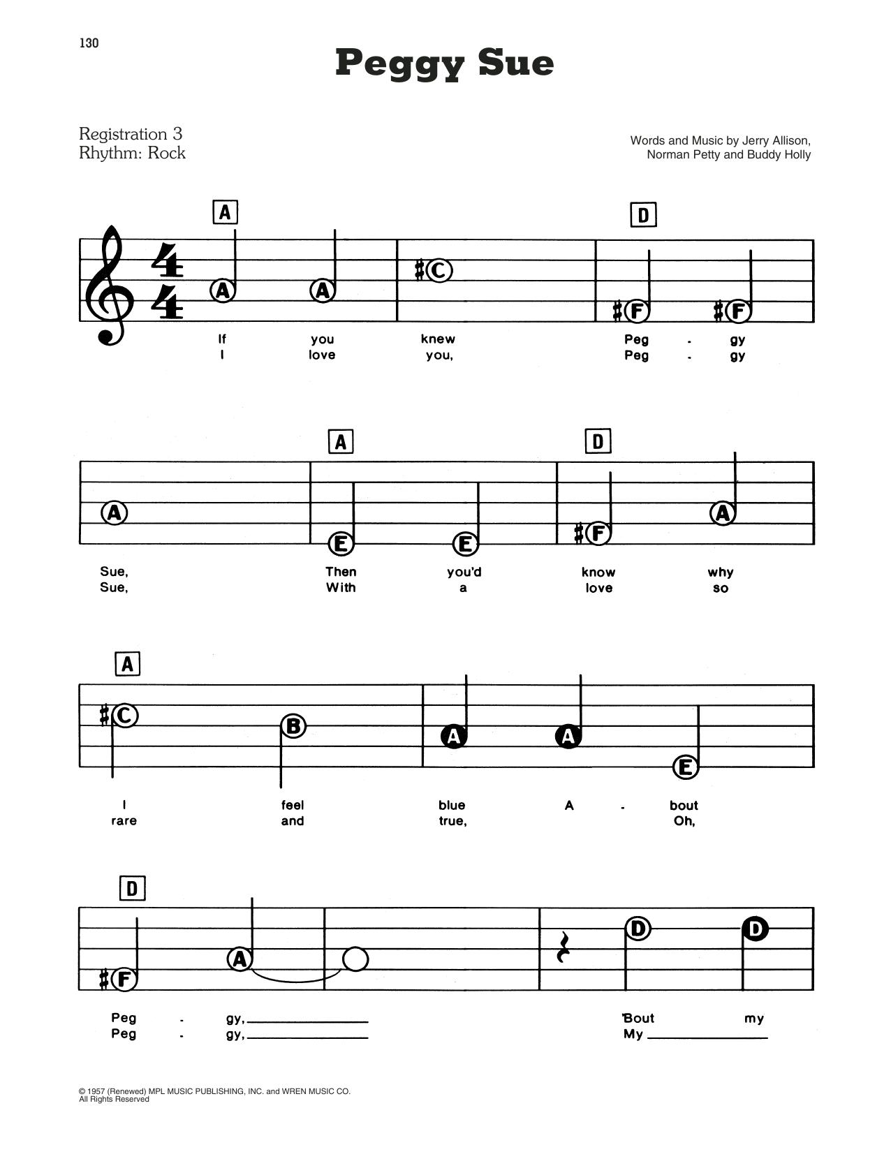 Peggy Sue Sheet Music