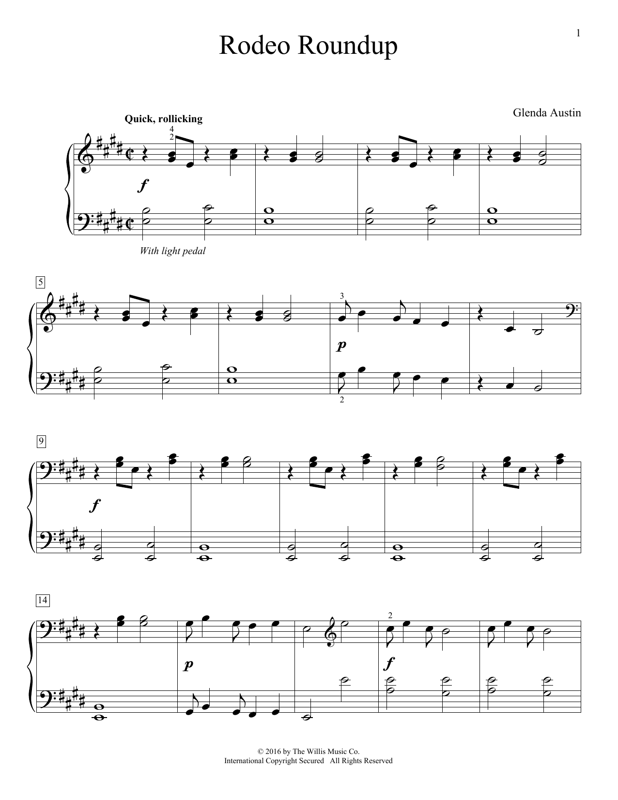 Rodeo Roundup Sheet Music