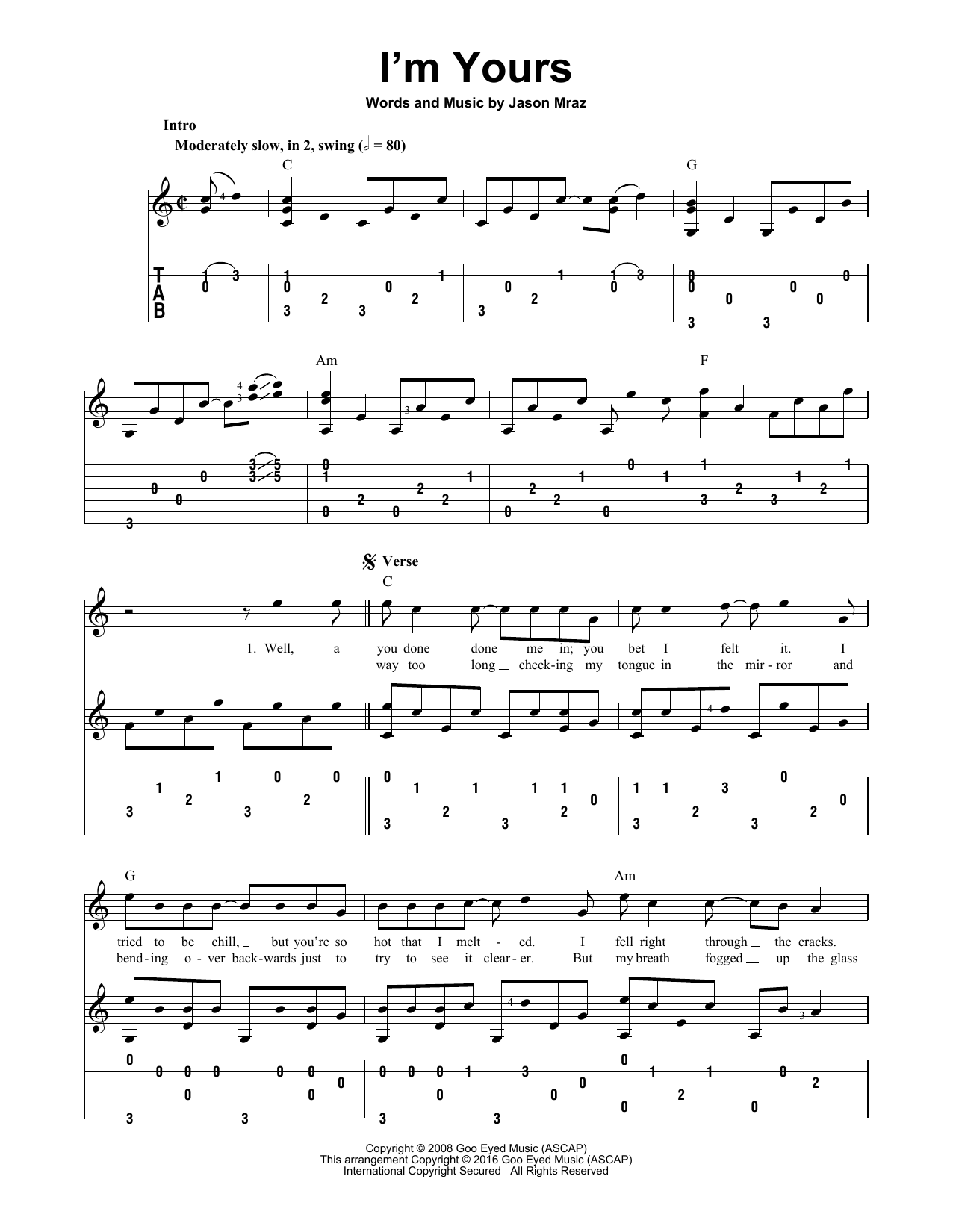 Im yours sheet music direct im yours hexwebz Images