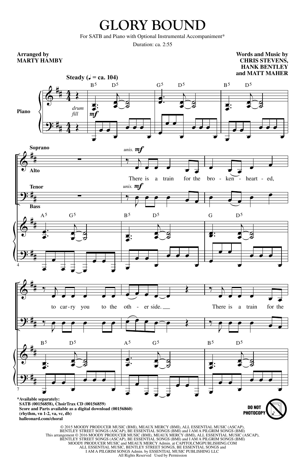 Glory Bound Sheet Music