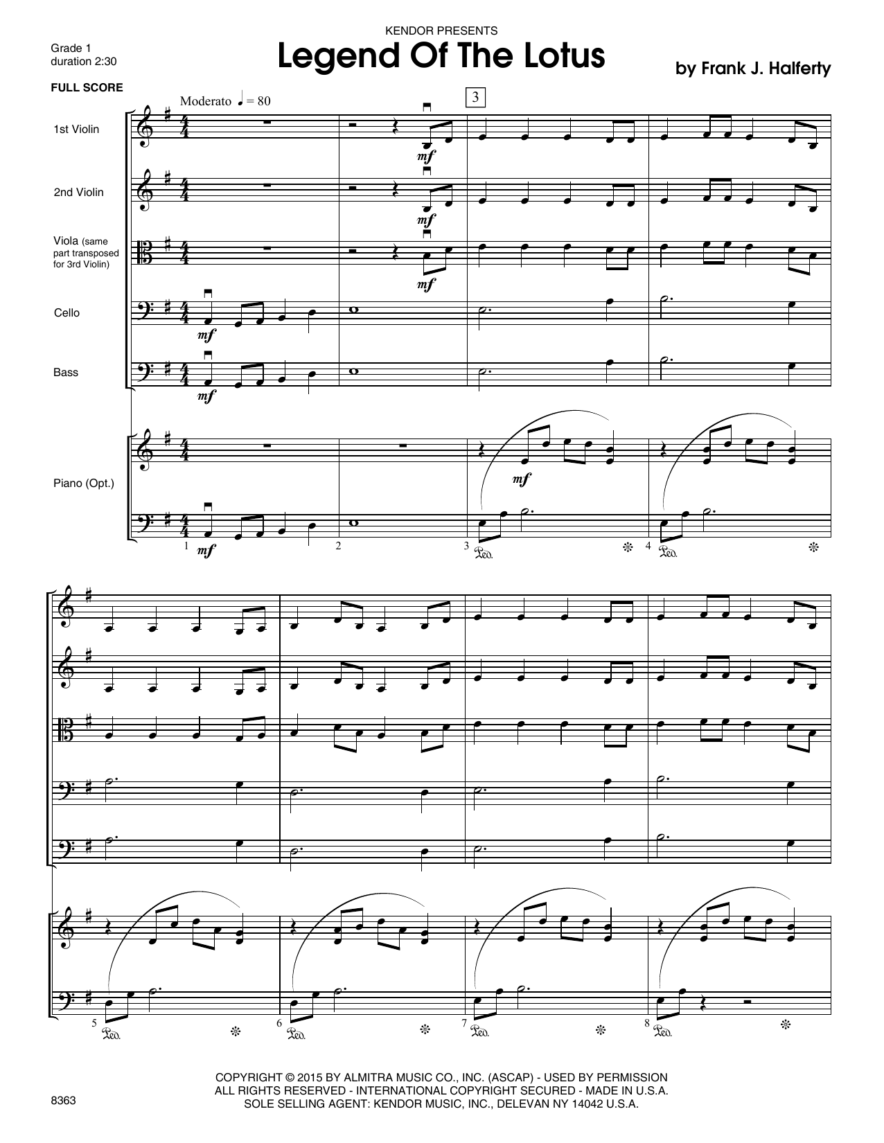 Legend Of The Lotus (COMPLETE) sheet music for orchestra by Frank J. Halferty. Score Image Preview.