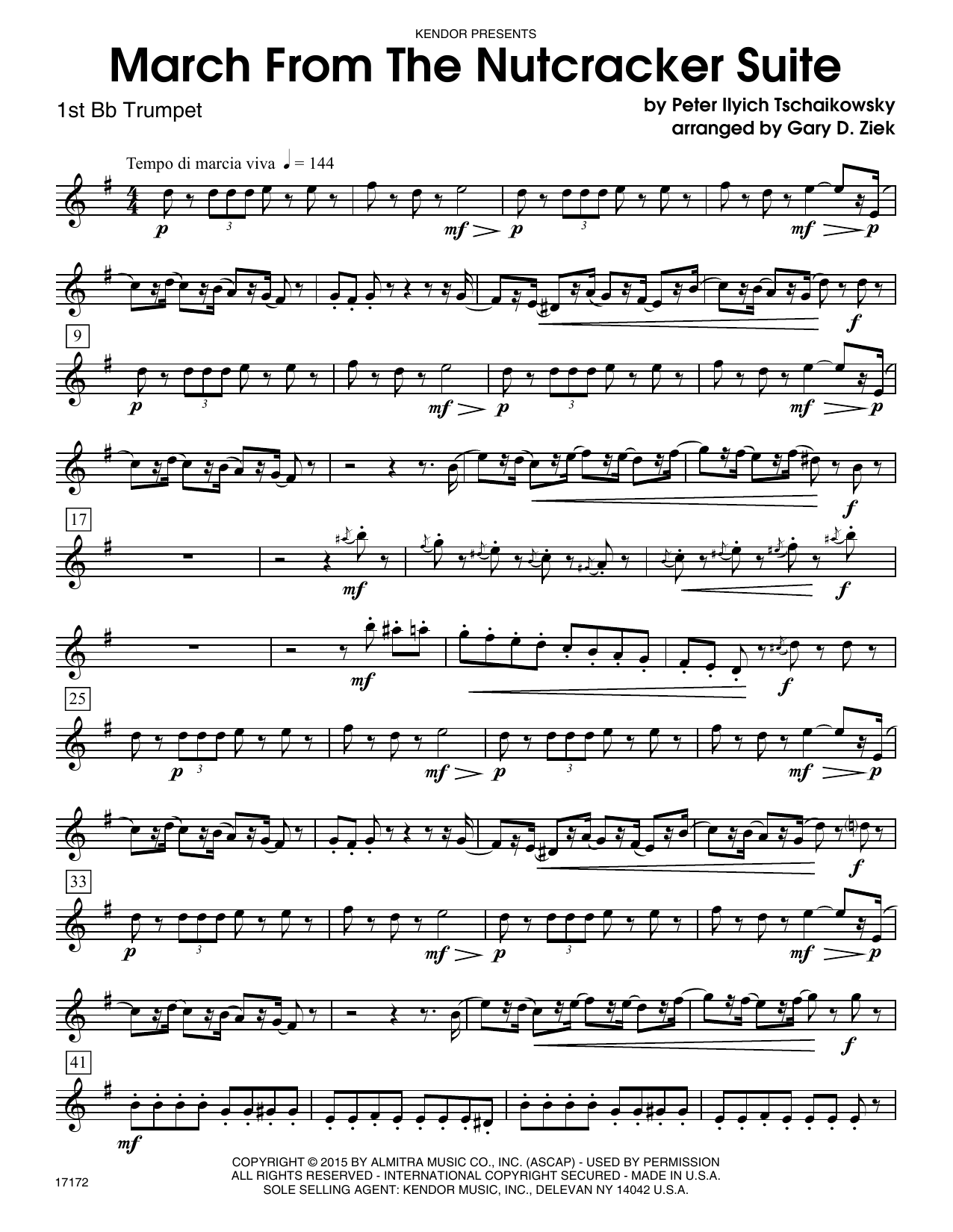 March from the Nutcracker - 1st Bb Trumpet Sheet Music