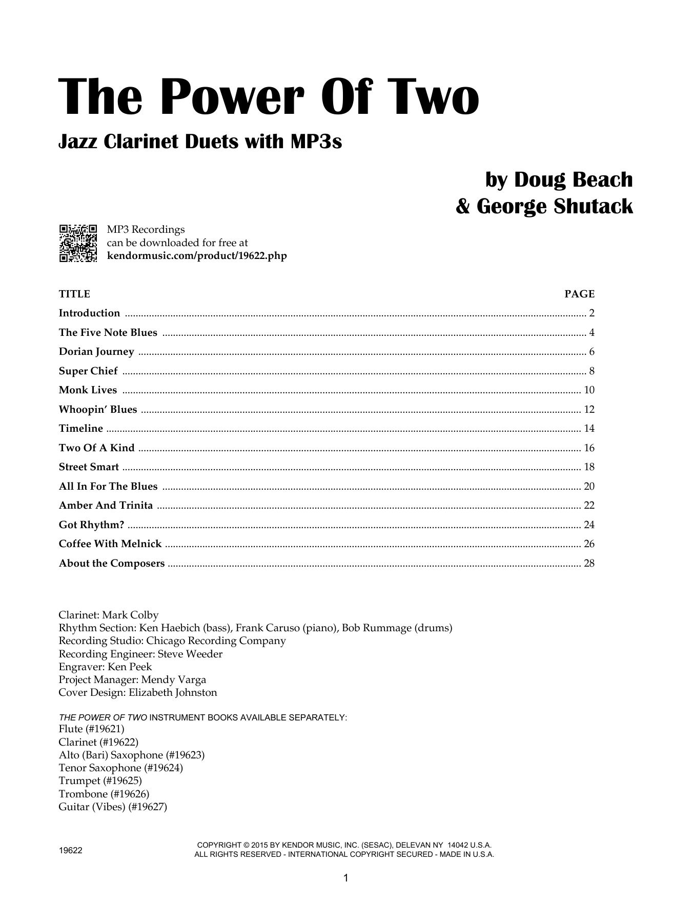 The Power Of Two - Clarinet Sheet Music