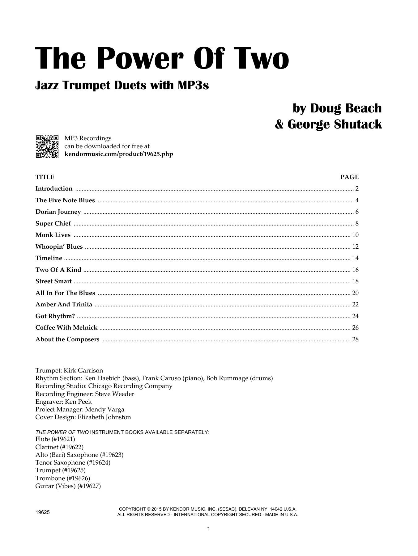 The Power Of Two - Trumpet Sheet Music