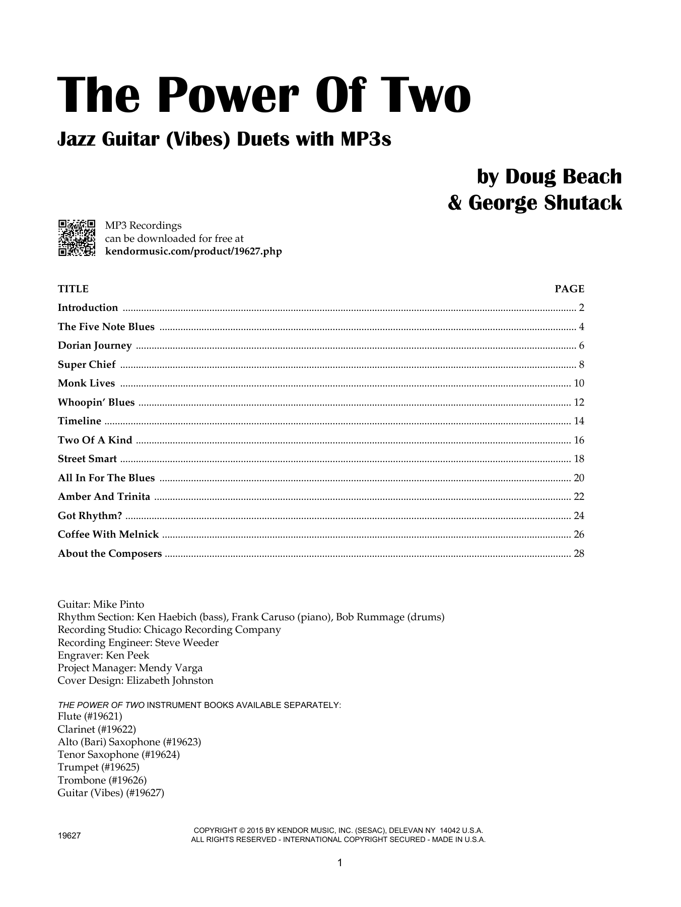 The Power Of Two - Guitar (Vibes) Sheet Music