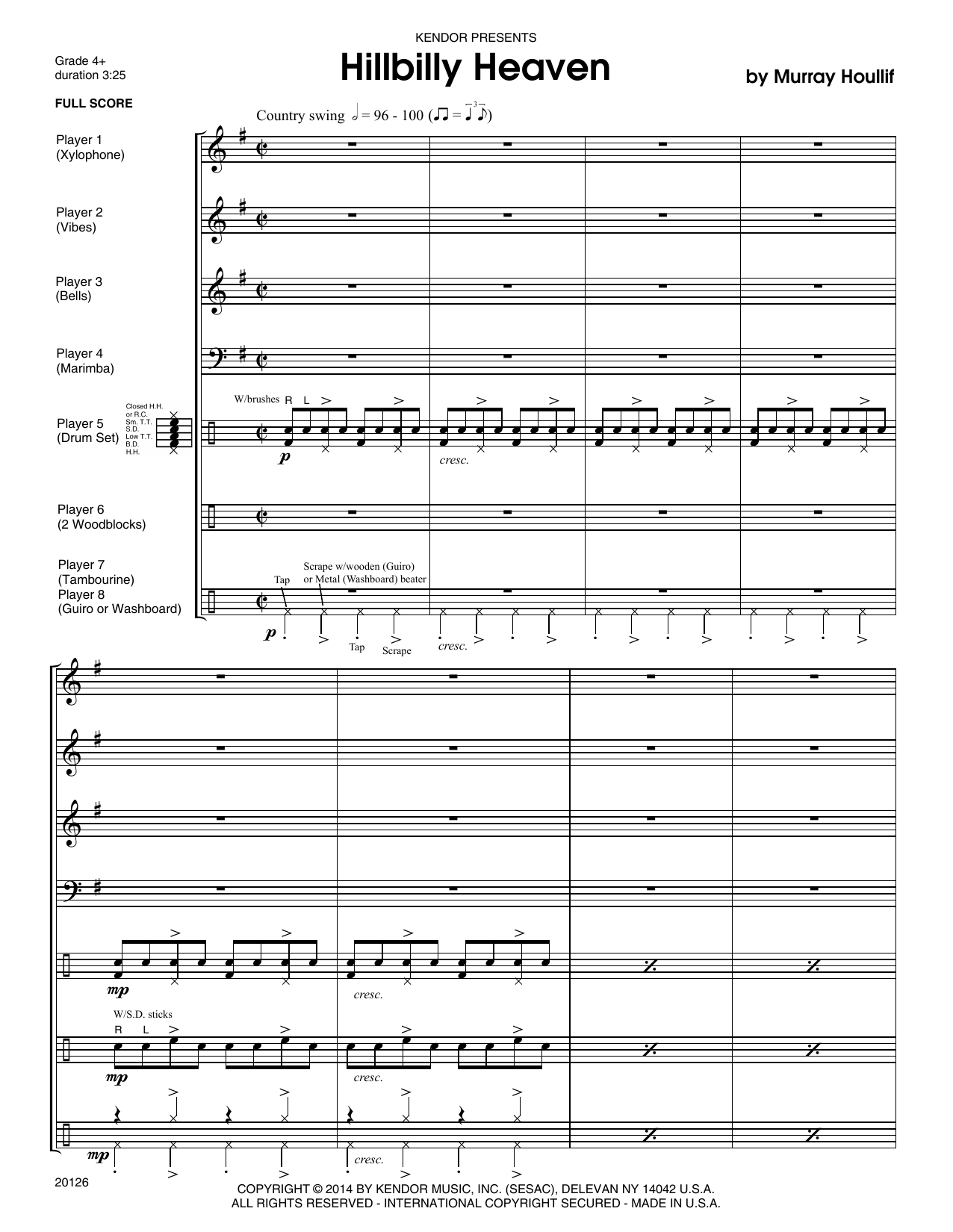 Hillbilly Heaven - Full Score Sheet Music