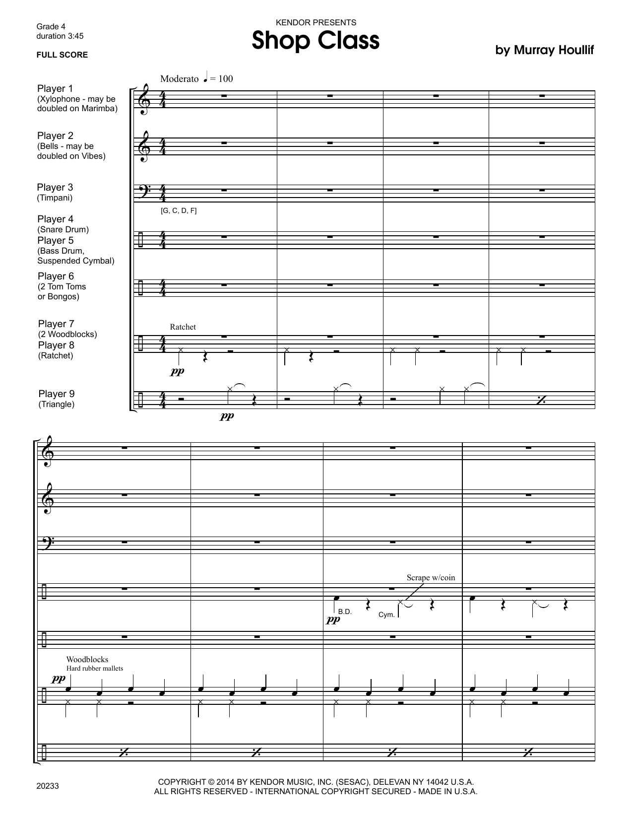 Shop Class (COMPLETE) sheet music for percussions by Houllif. Score Image Preview.