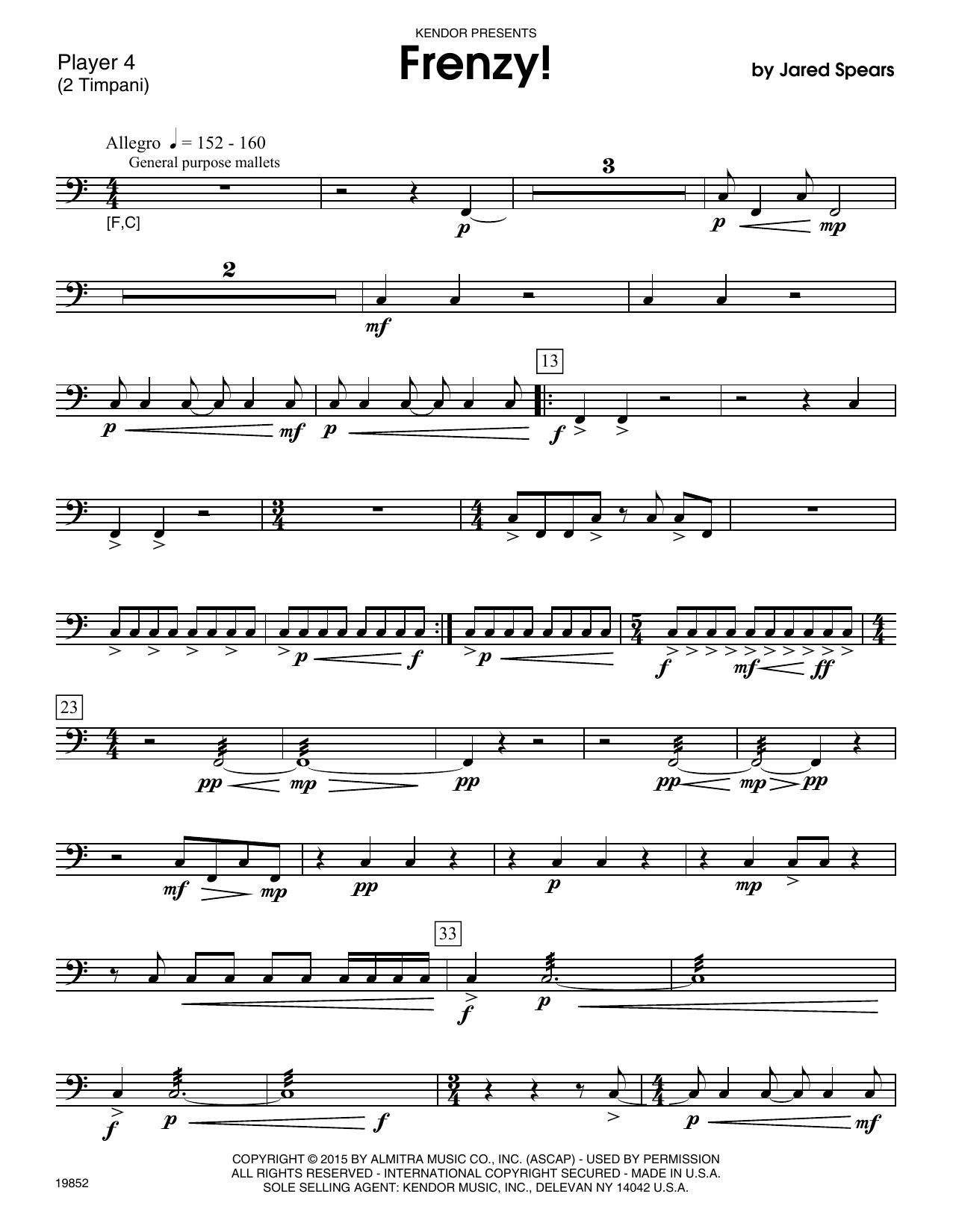 Frenzy! - Percussion 4 Sheet Music