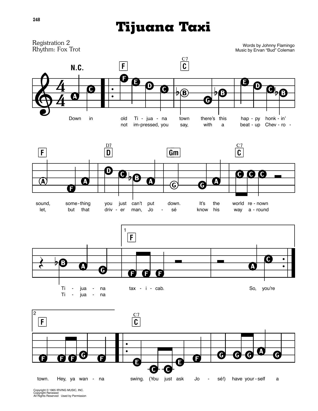 Tijuana Taxi (E-Z Play Today)