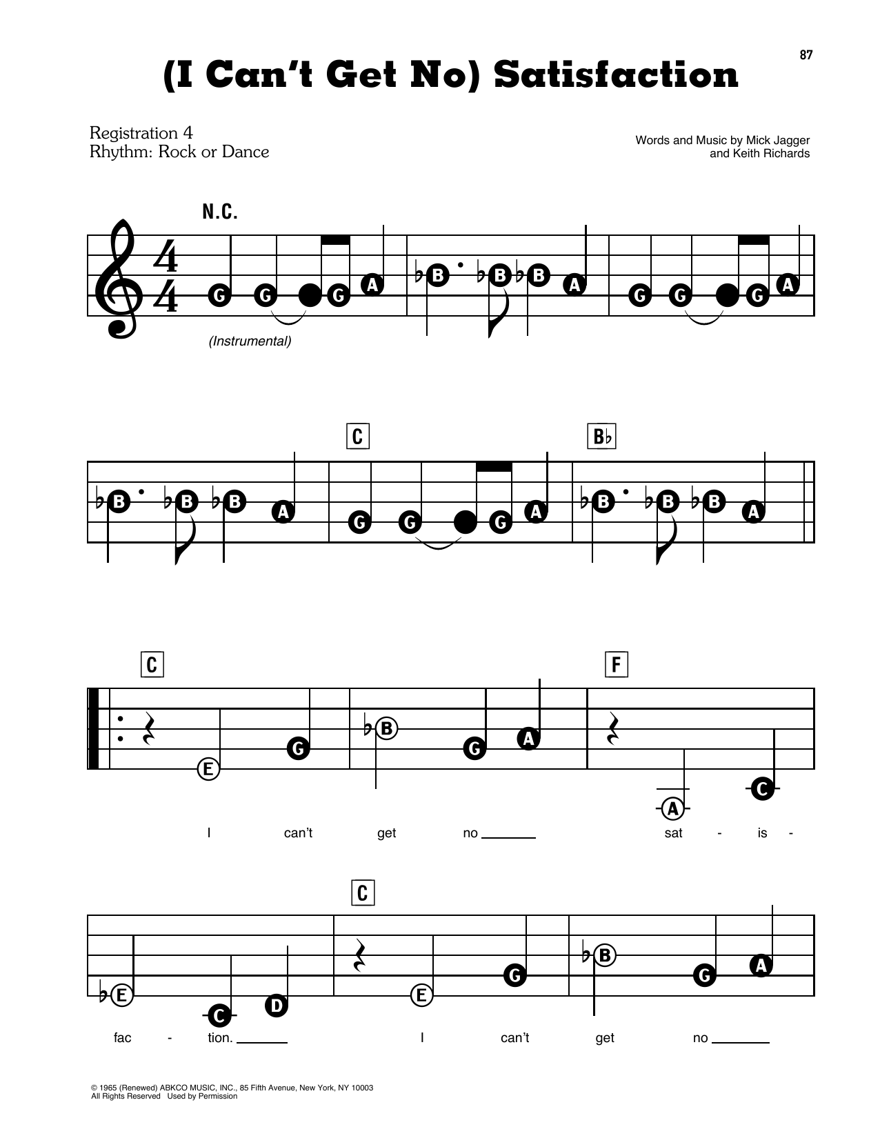 (I Can't Get No) Satisfaction Sheet Music