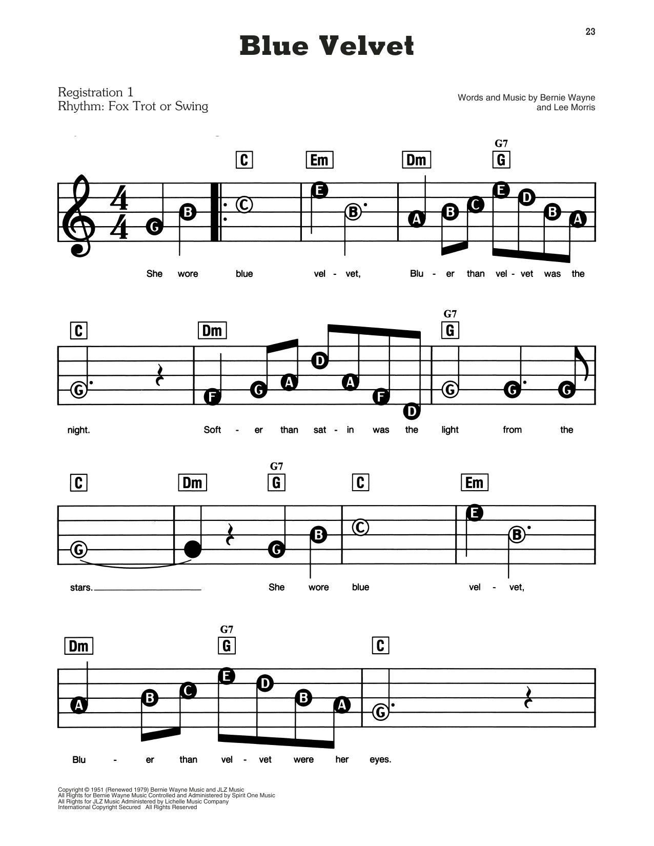 Blue Velvet (E-Z Play Today)
