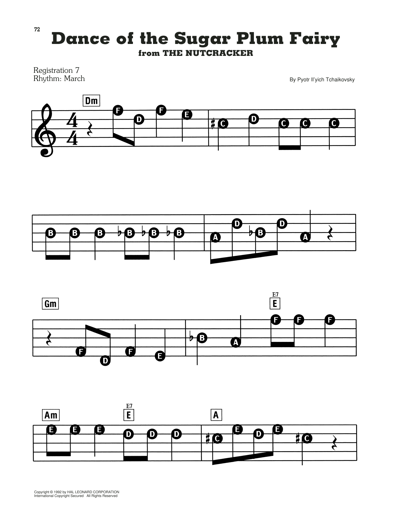 Dance Of The Sugar Plum Fairy, Op. 71a Sheet Music