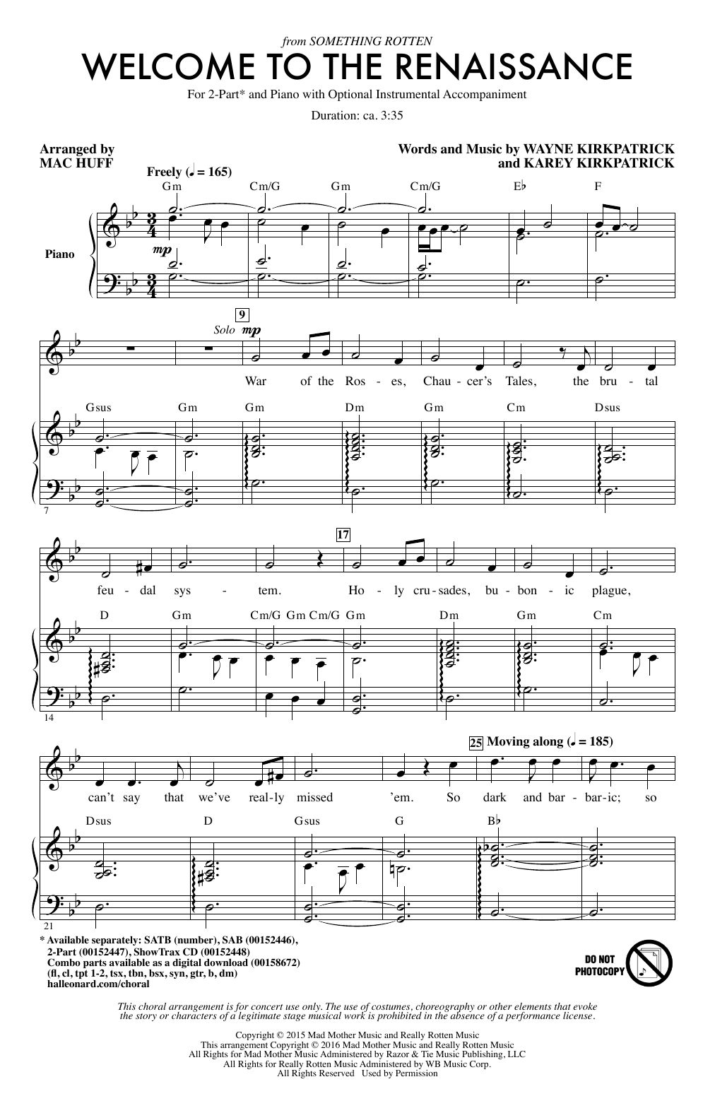 Welcome To The Renaissance Sheet Music