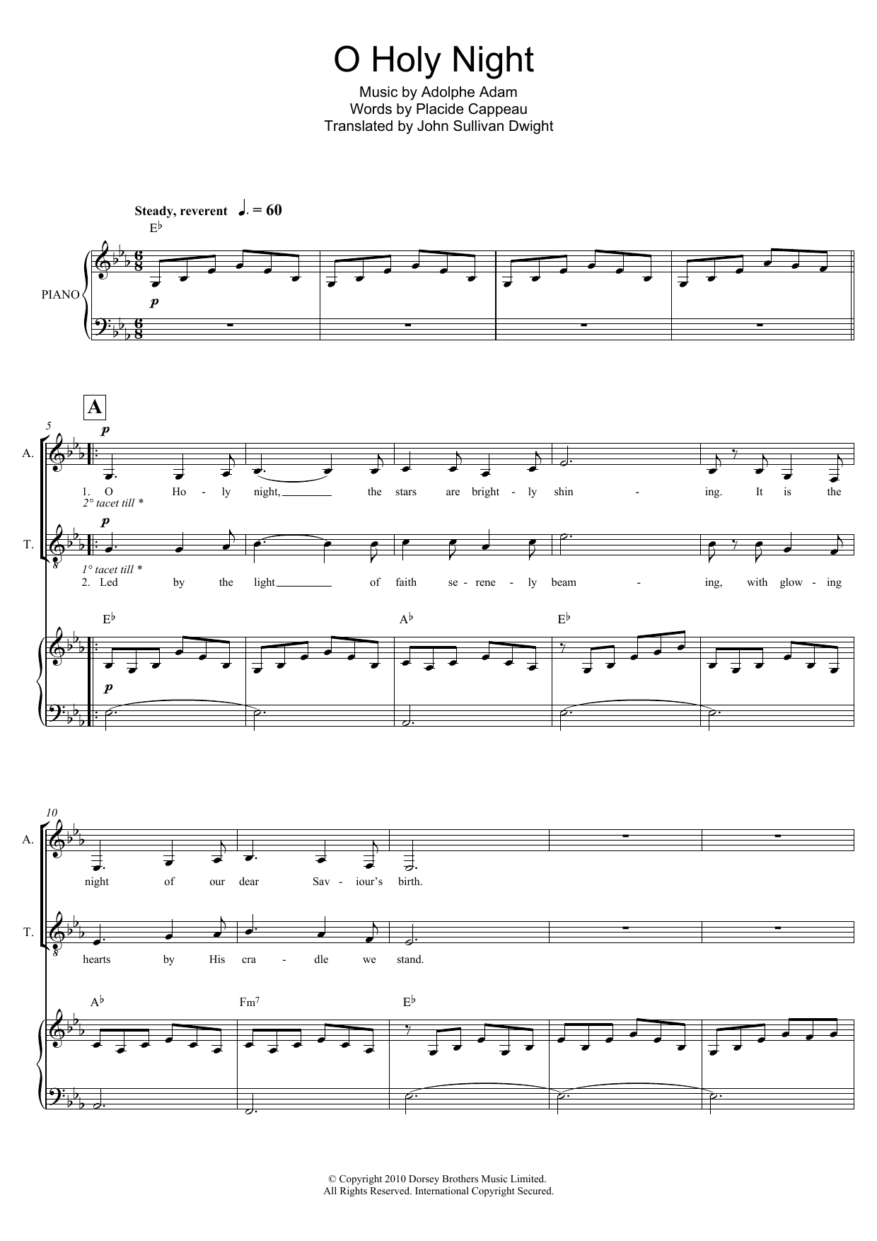 O Holy Night (arr. Mark De-Lisser) Sheet Music