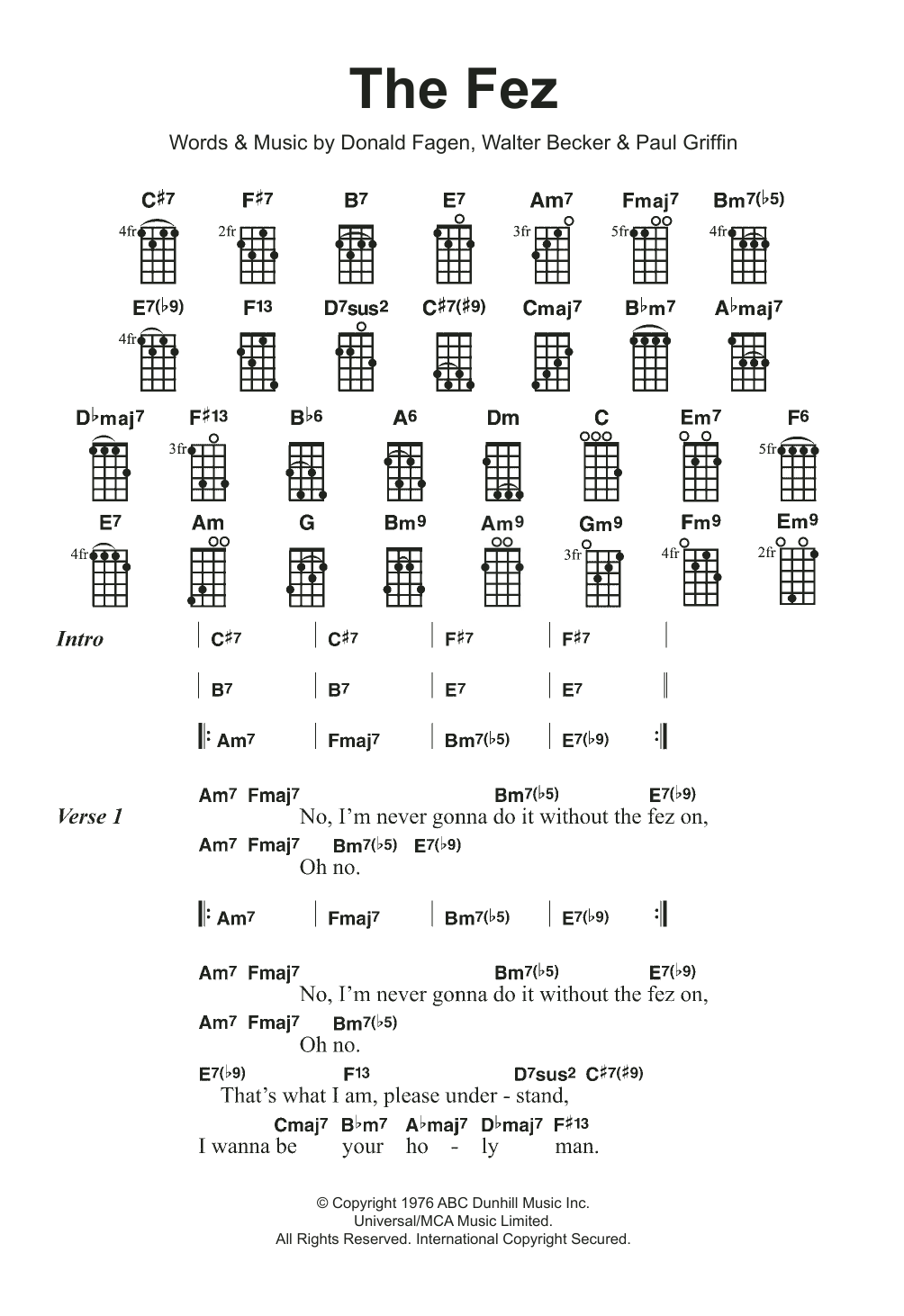 The Fez Sheet Music
