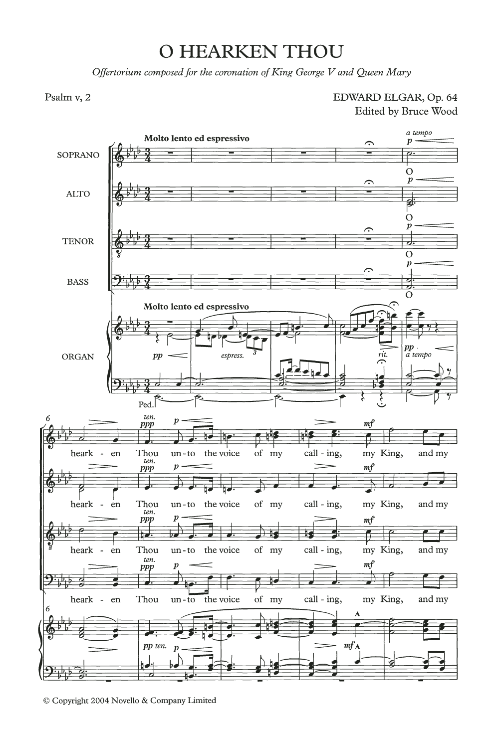 O Hearken Thou Sheet Music