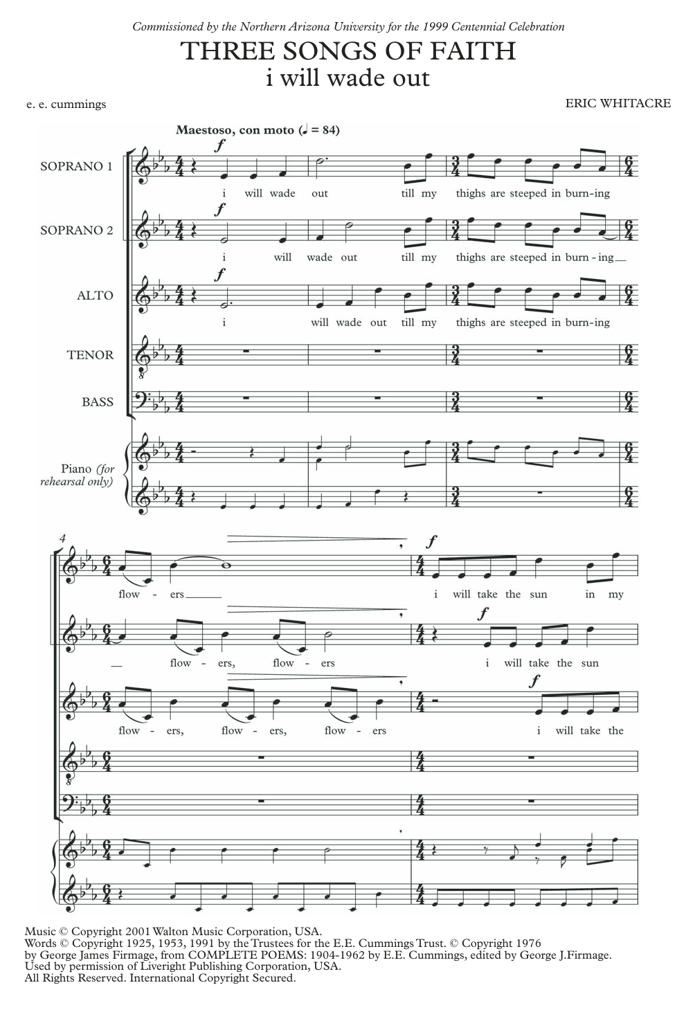 I Will Wade Out Sheet Music