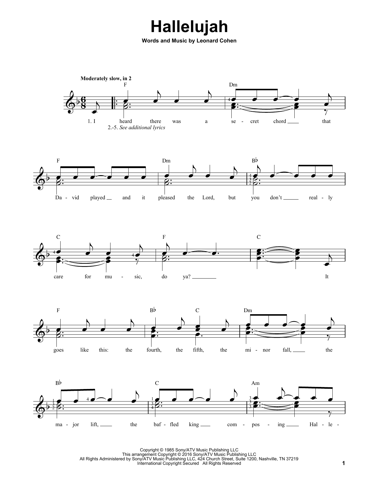 Hallelujah Guitar Chords Pictures