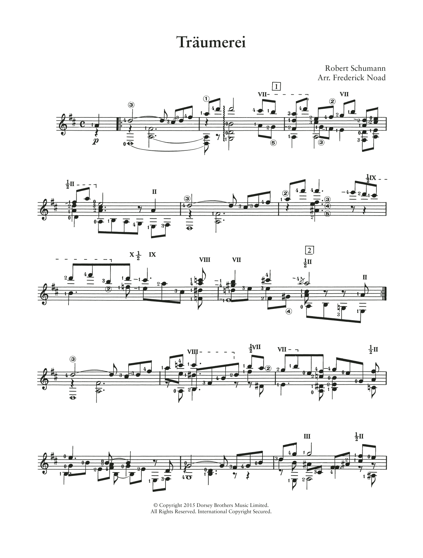 Traumerei Op.15 No.7 Sheet Music