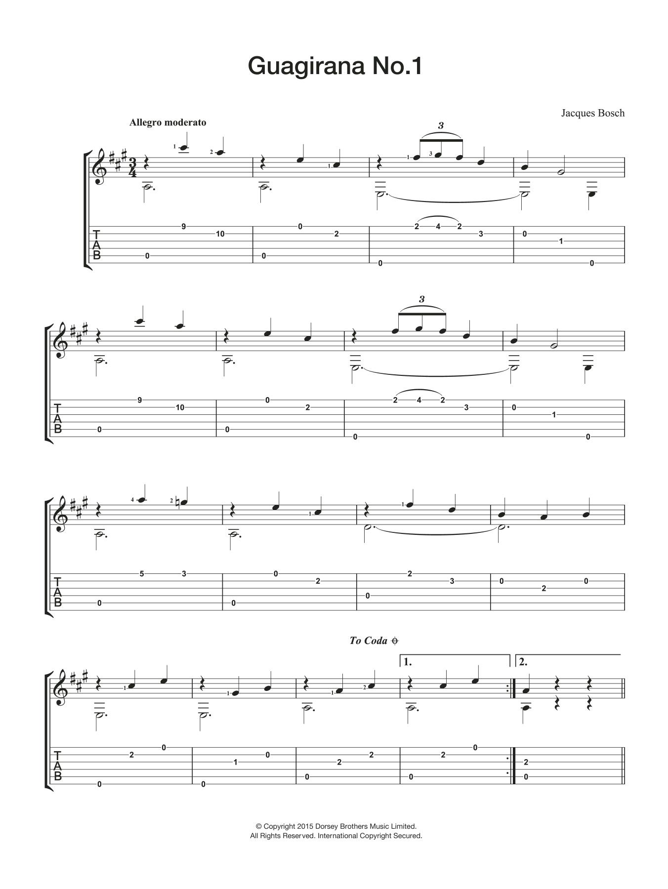 Guagirana No. 1 Sheet Music