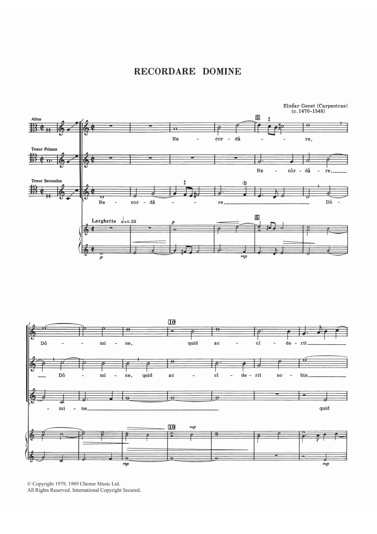 Recordare Domine Sheet Music
