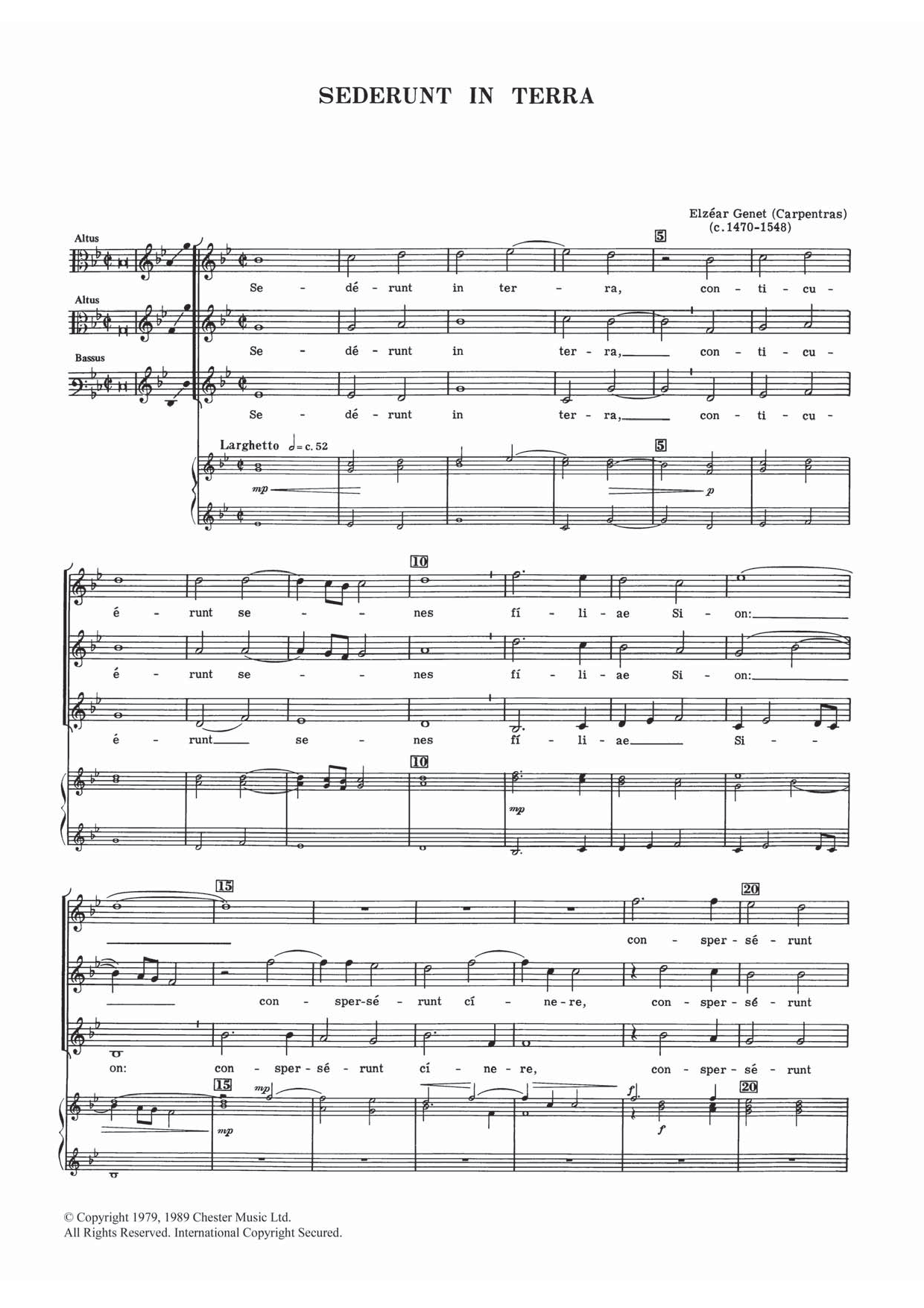 Sederunt In Terra Sheet Music