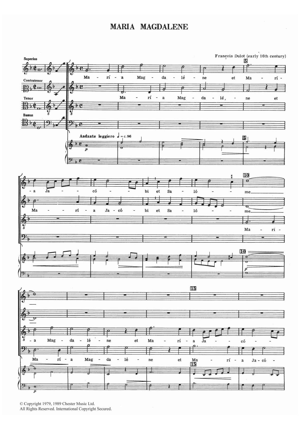 Maria Magdalene Sheet Music