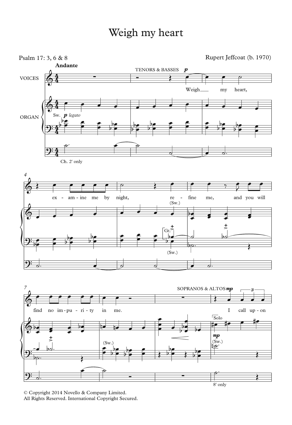 Weigh My Heart Sheet Music