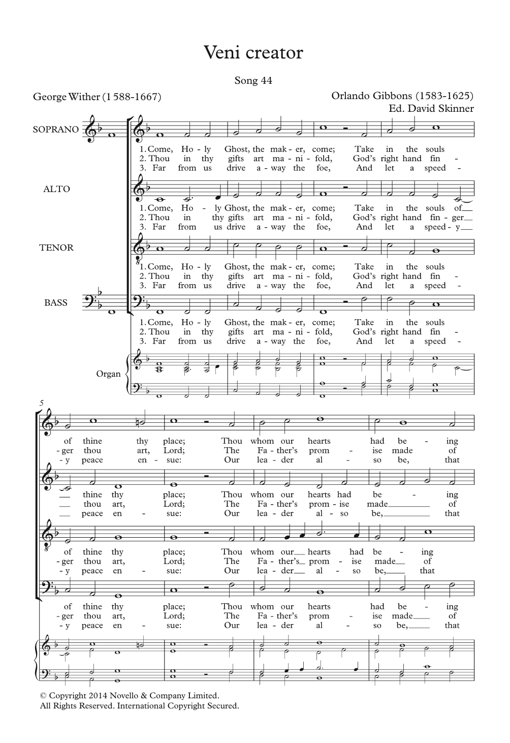 Veni Creator Sheet Music