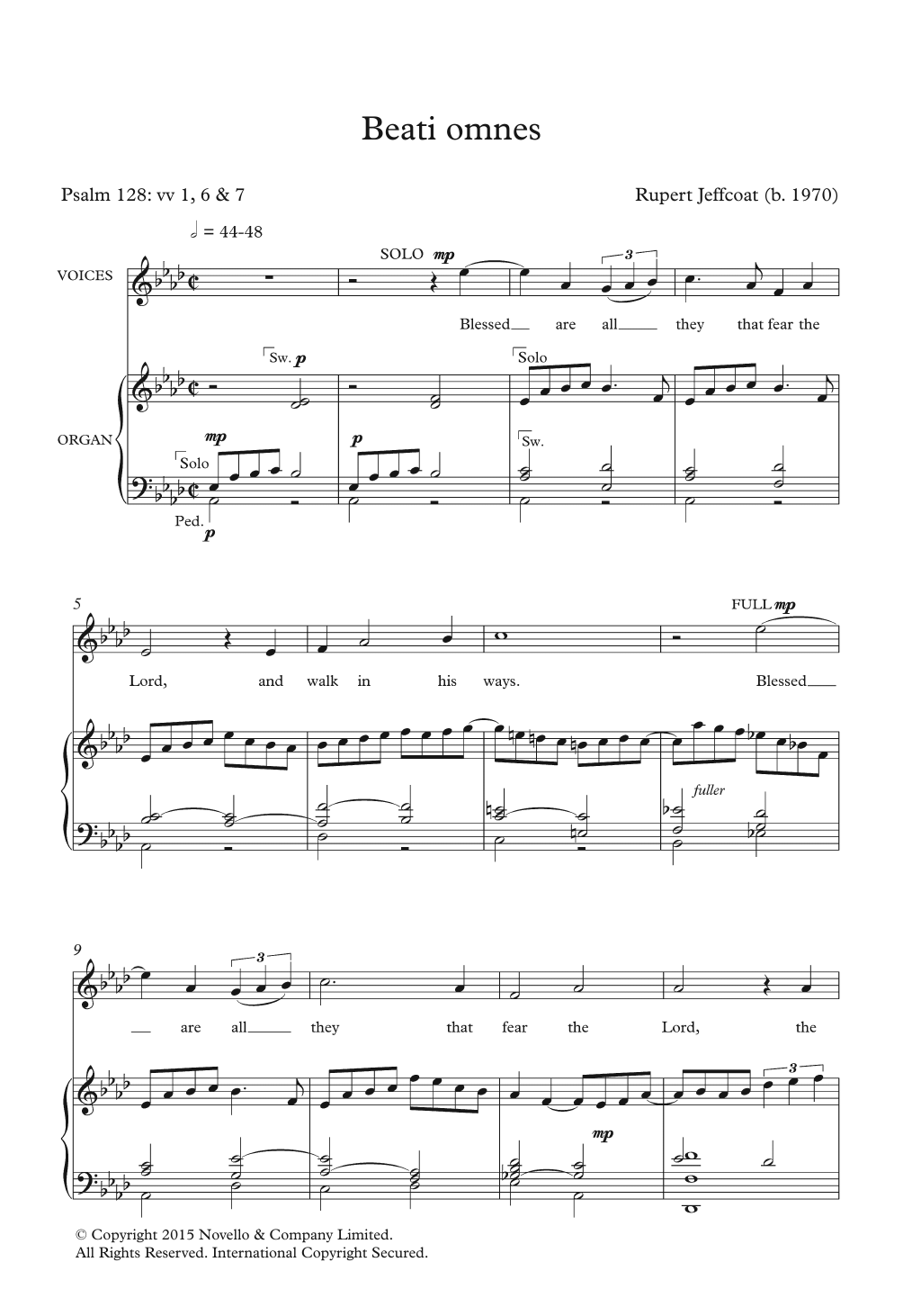 Beati Omnes Sheet Music